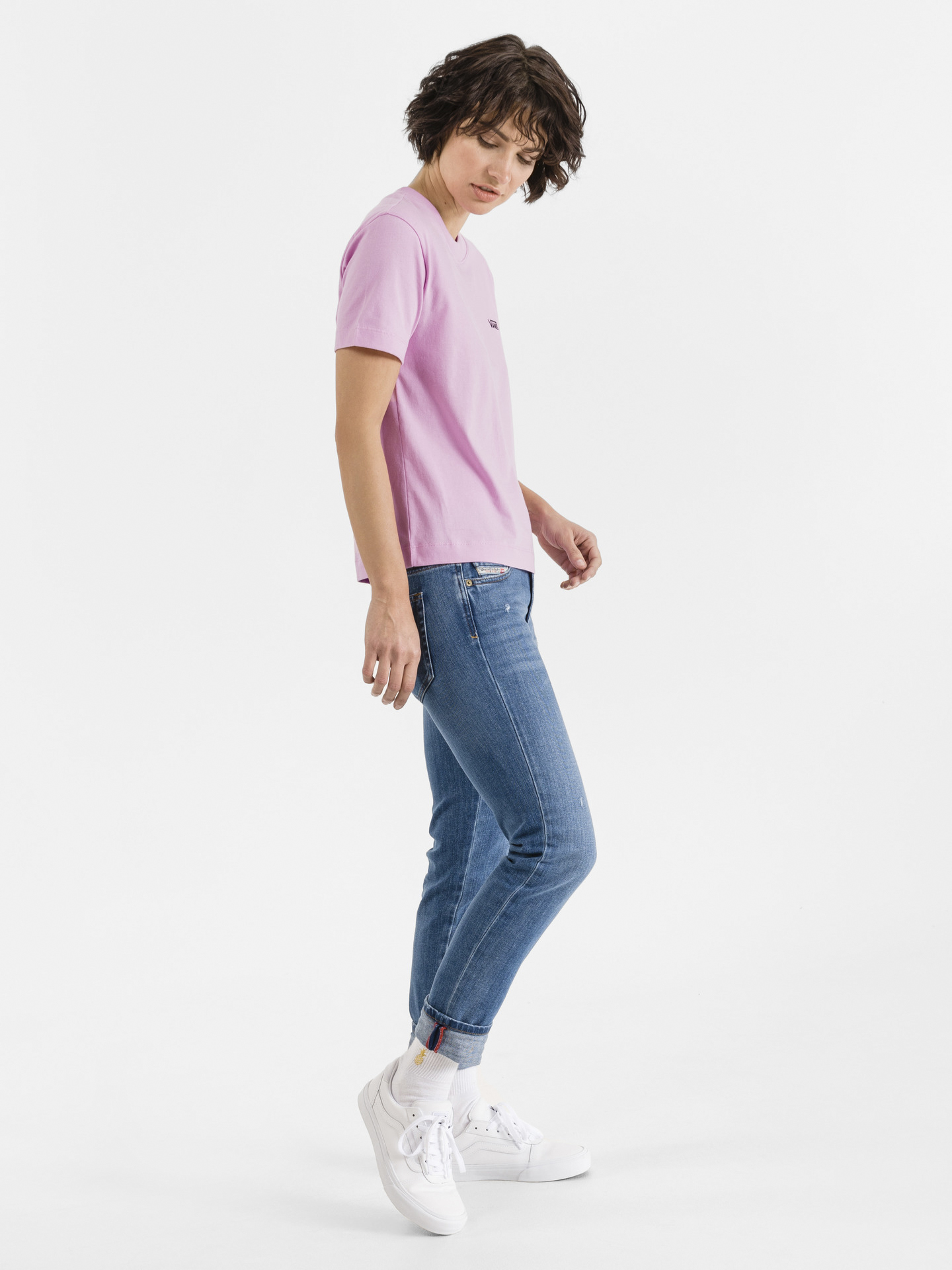 Vans różowy koszulka Junior V Boxy