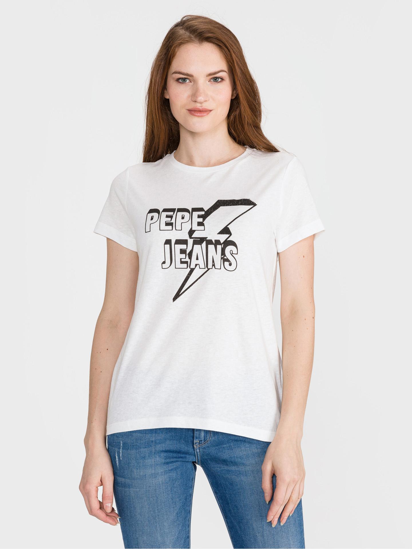Pepe Jeans Clover Koszulka biała