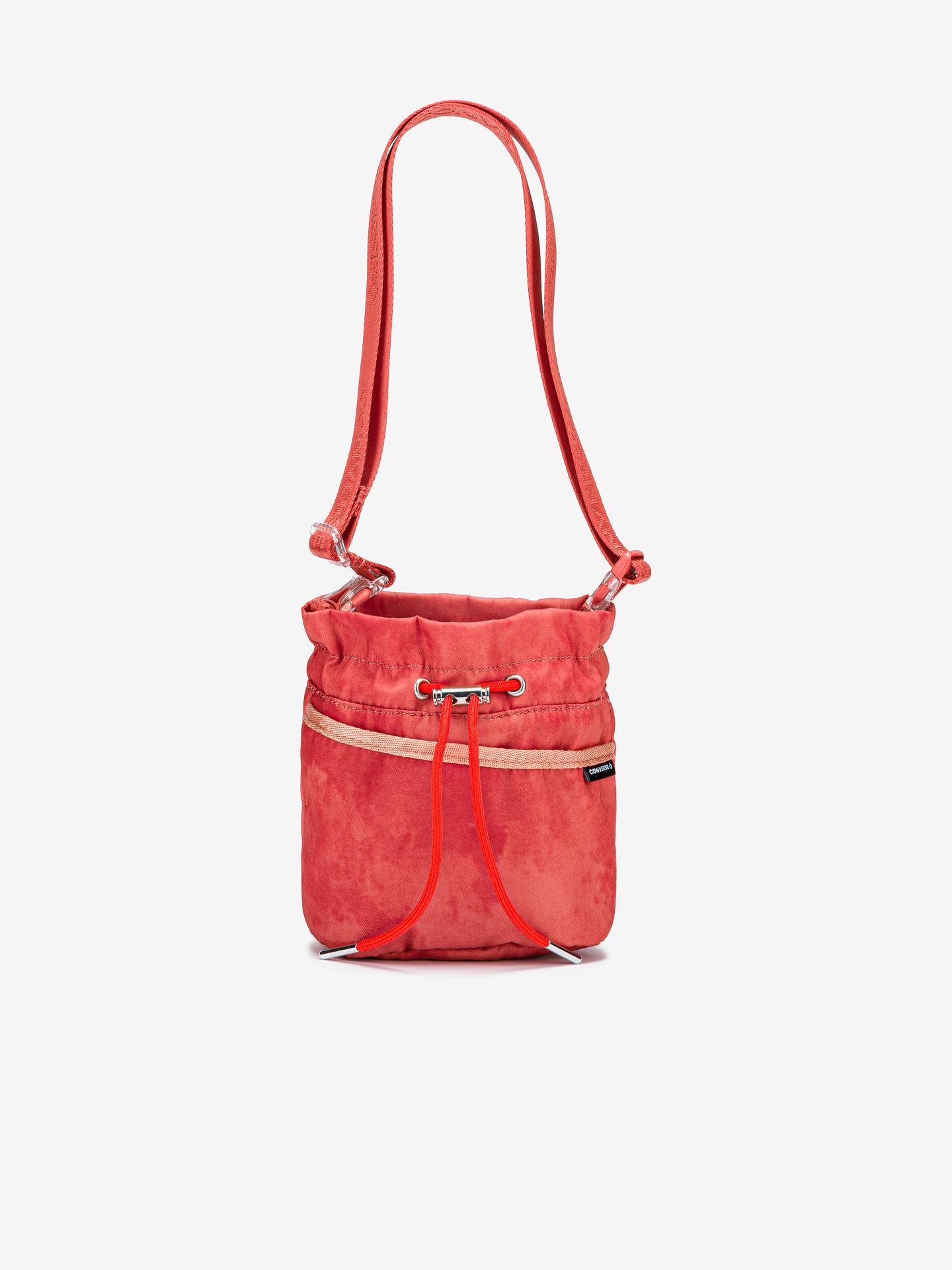 Converse czerwony crossbody torba Mini Bucket