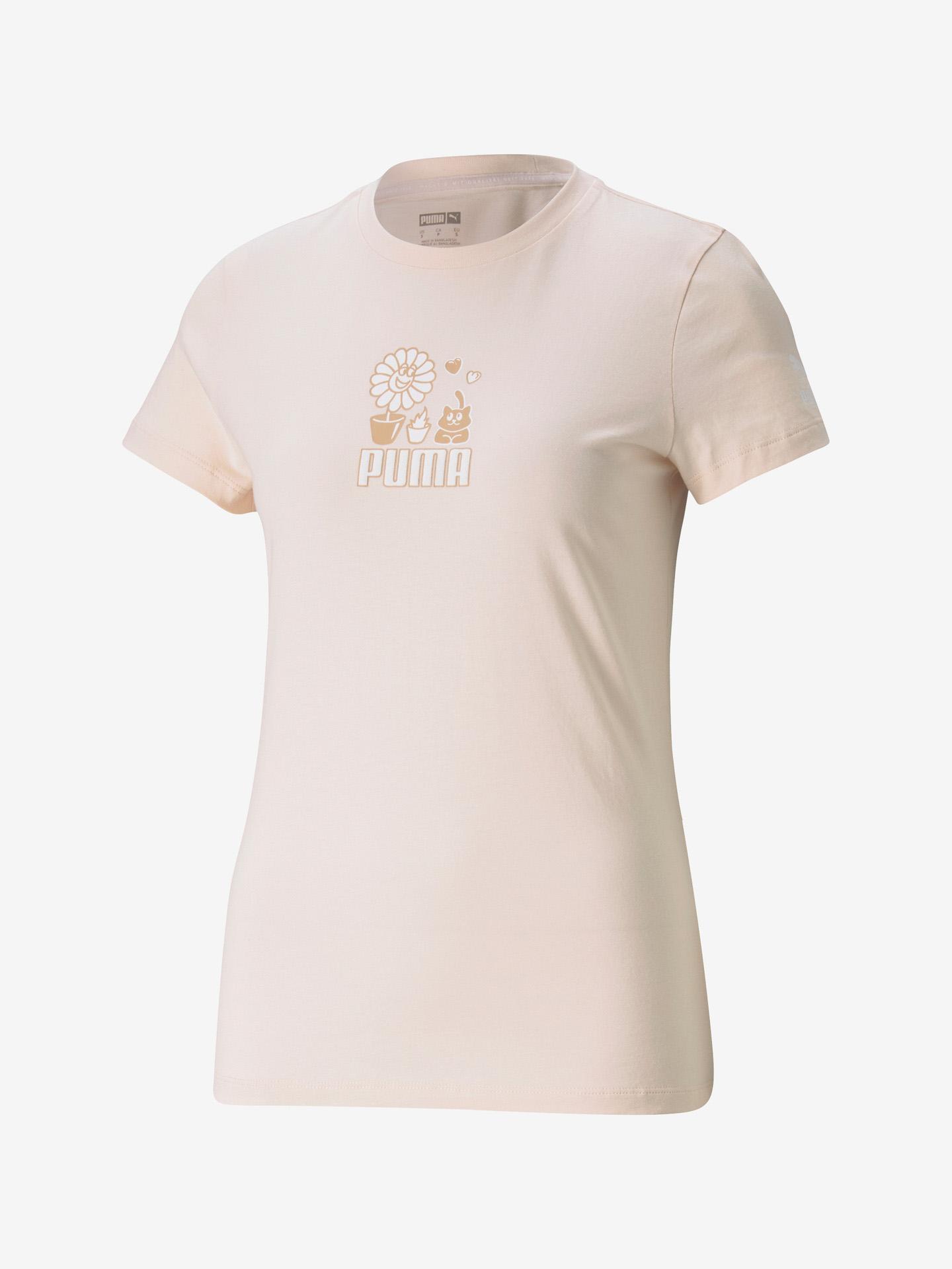 Puma Graphic Streetwear Koszulka Różowy