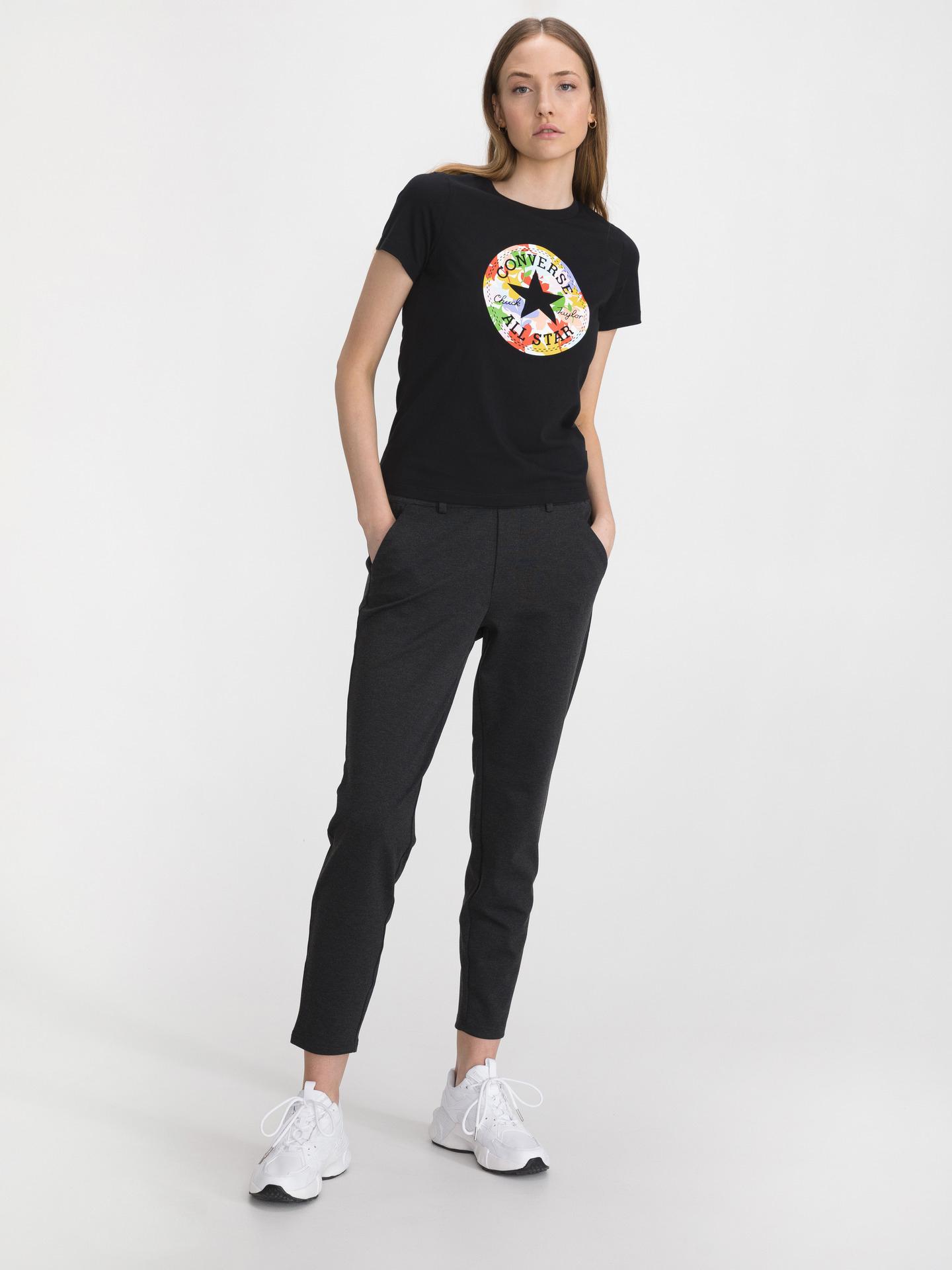 Converse czarny koszulka Flower Vibes Chuck Patch