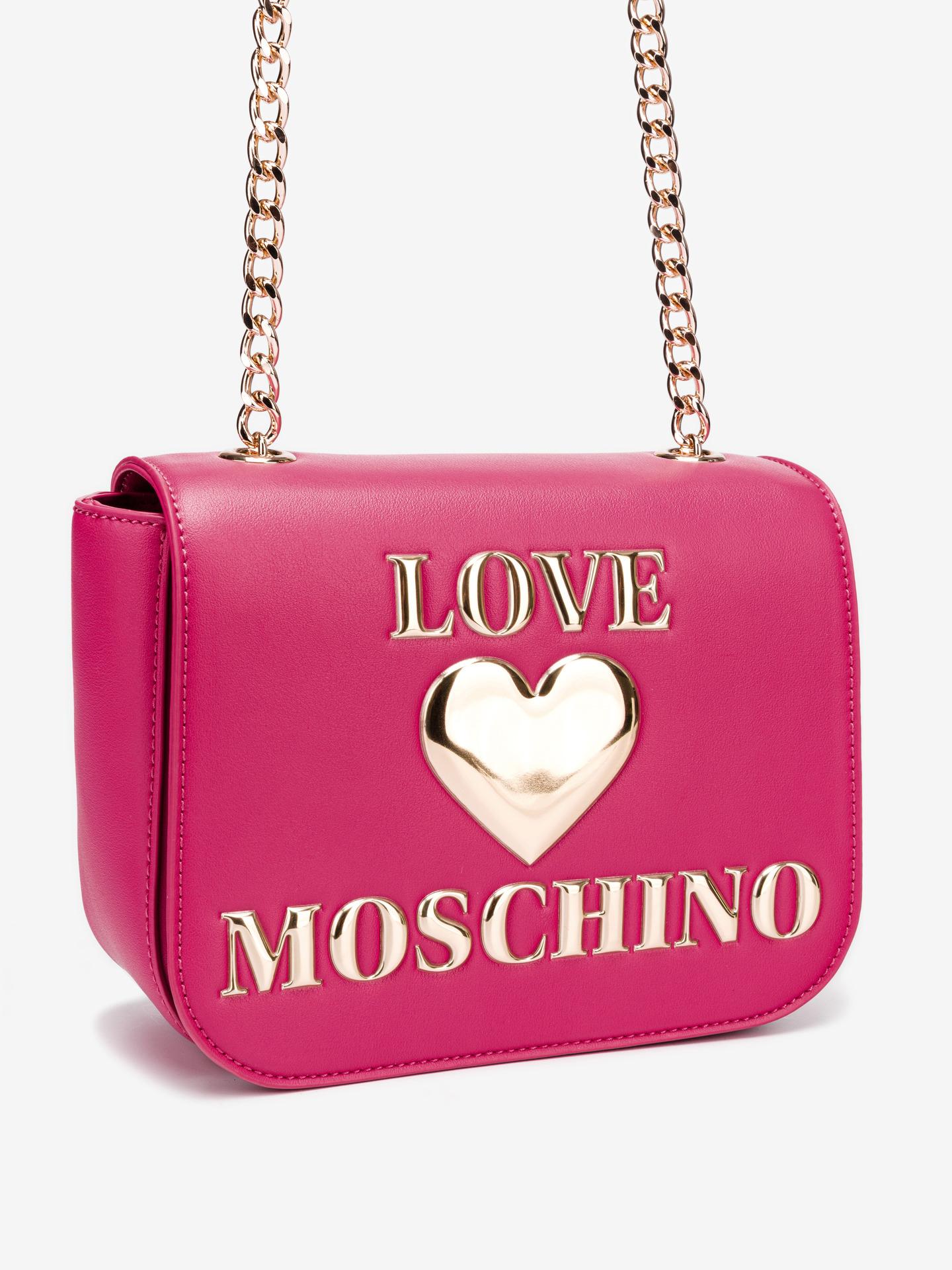 Love Moschino różowy crossbody torebka
