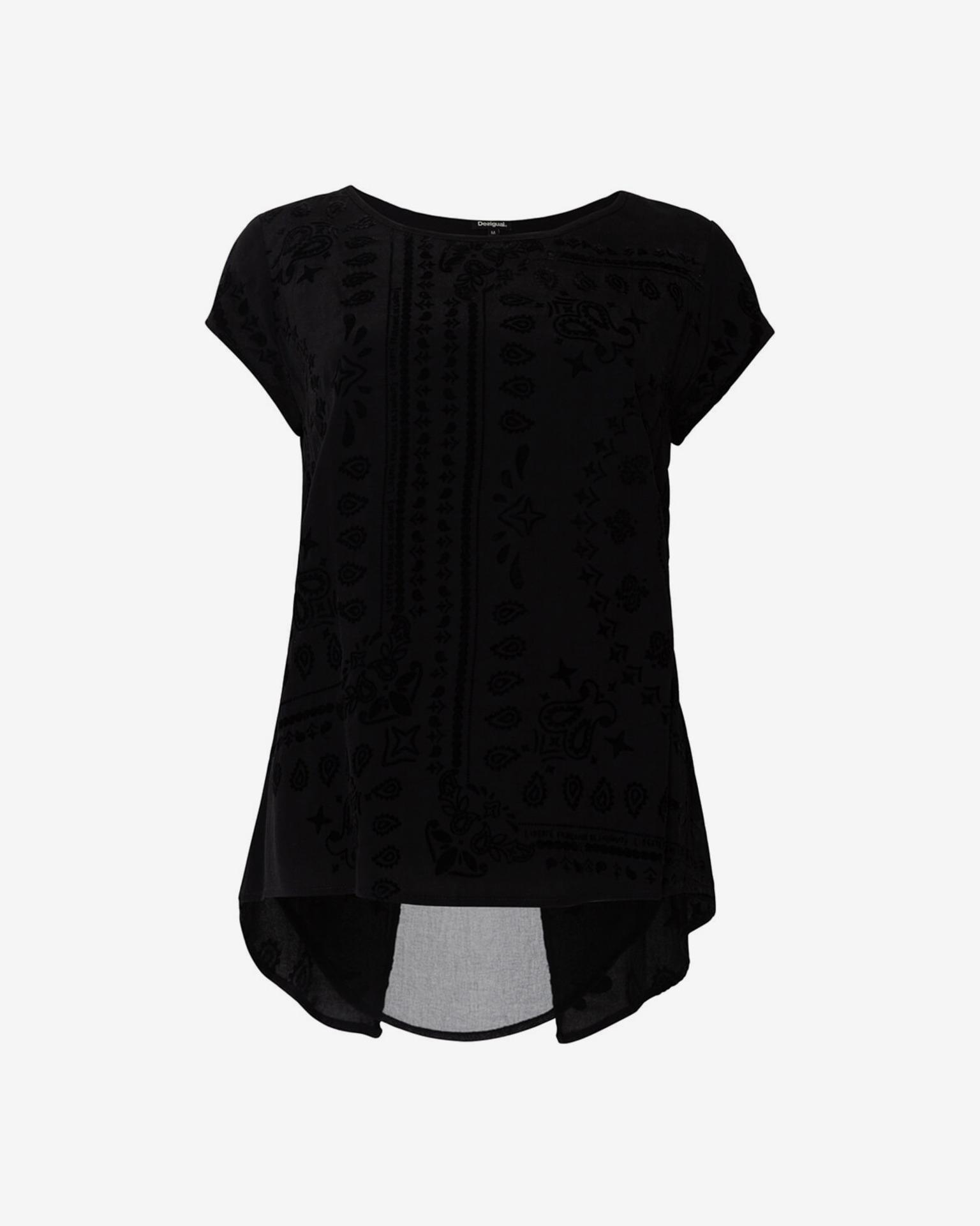 Desigual Koszulka damska czarny Triko