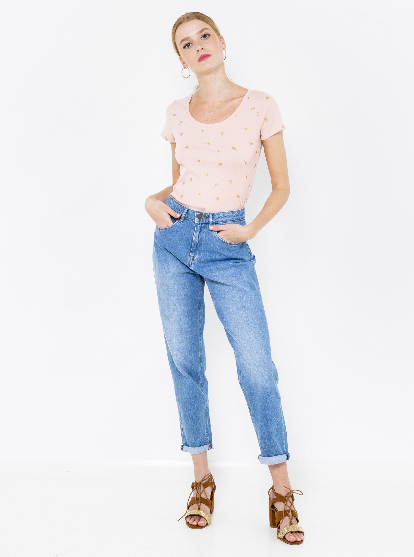 CAMAIEU Koszulka damska różowy