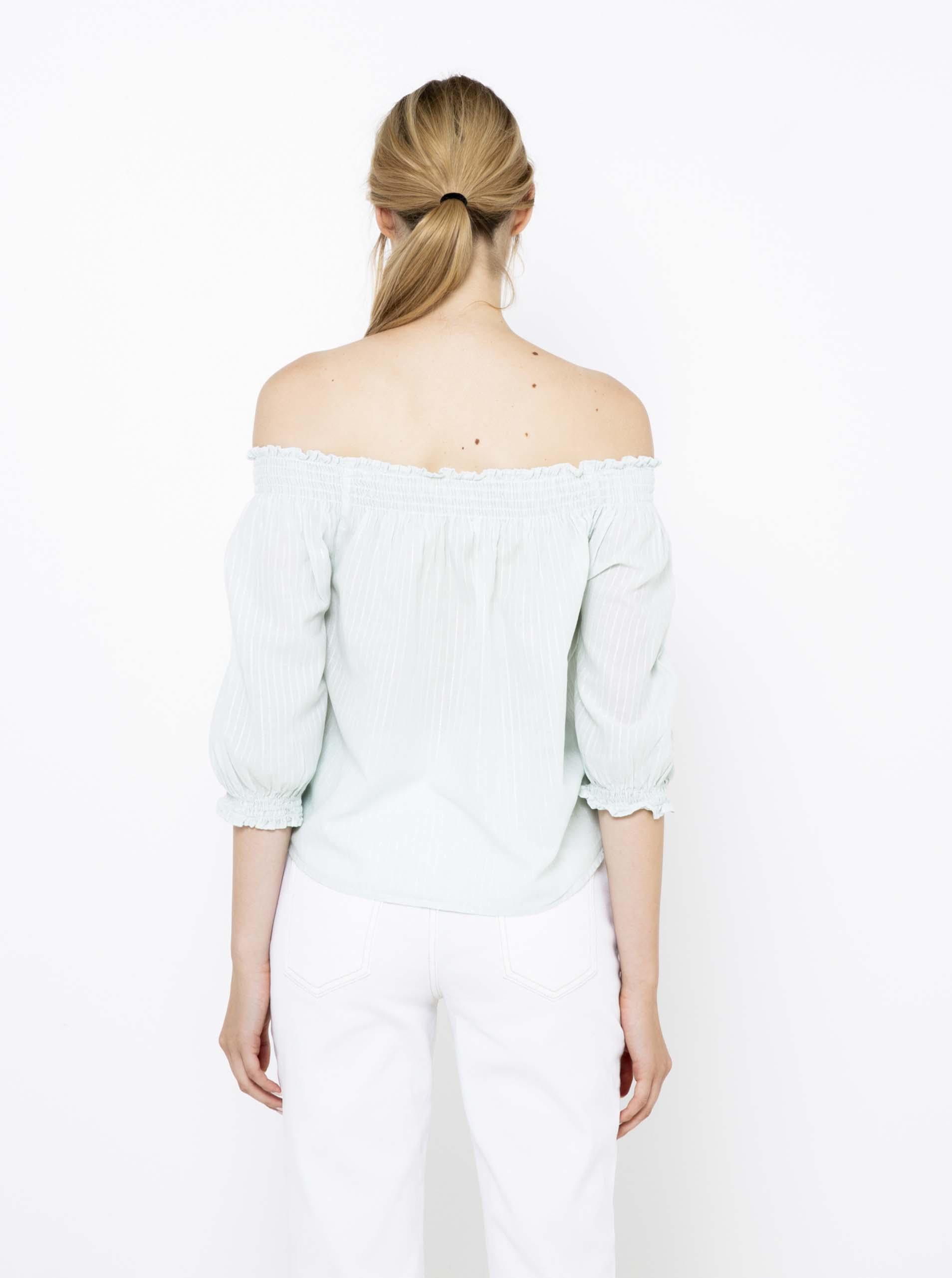 CAMAIEU niebieski w paski bluzka