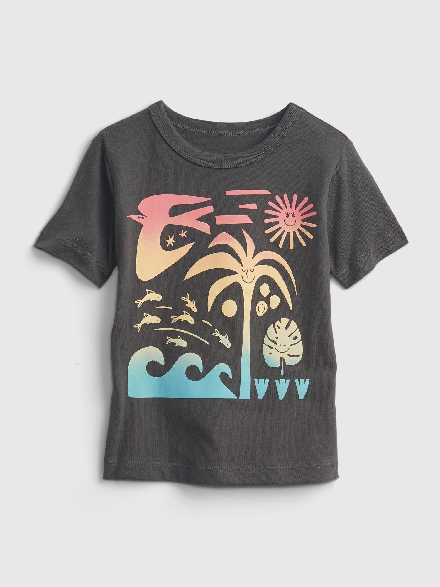 GAP Koszulka dziecięce Szary