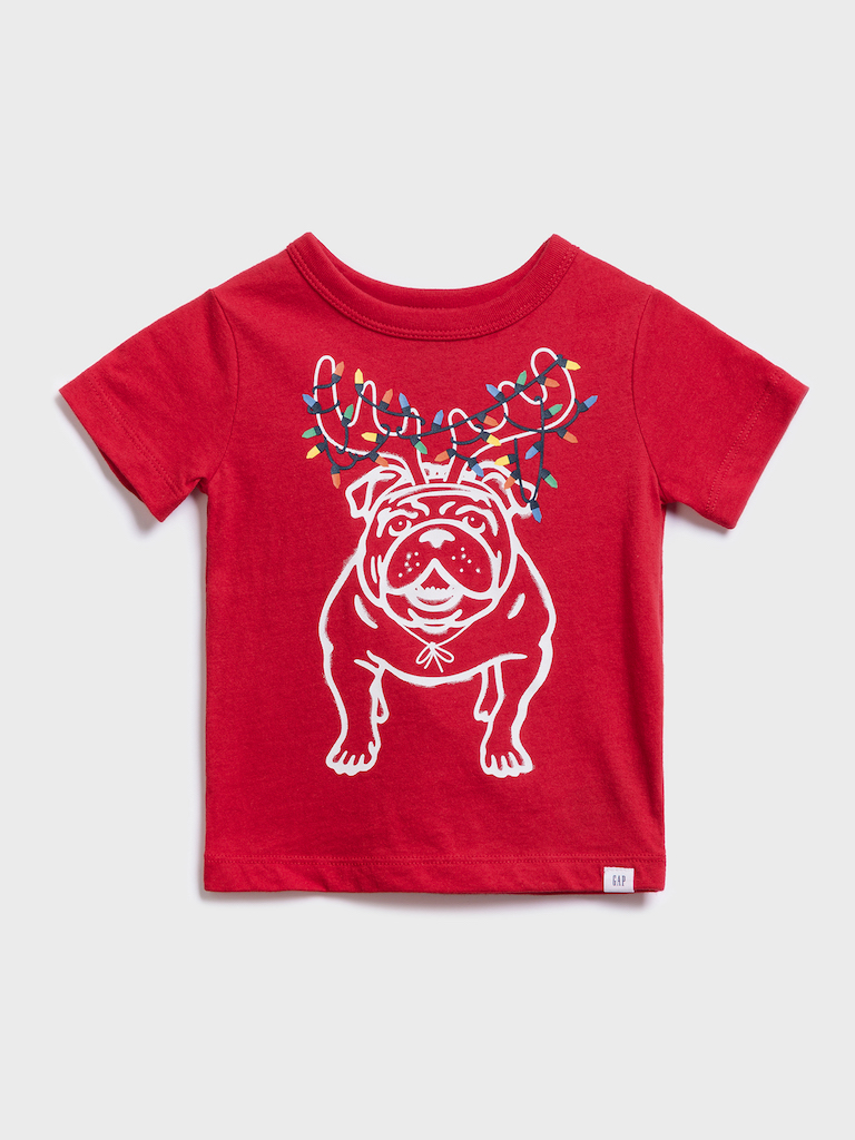 GAP Koszulka chłopięca czerwony