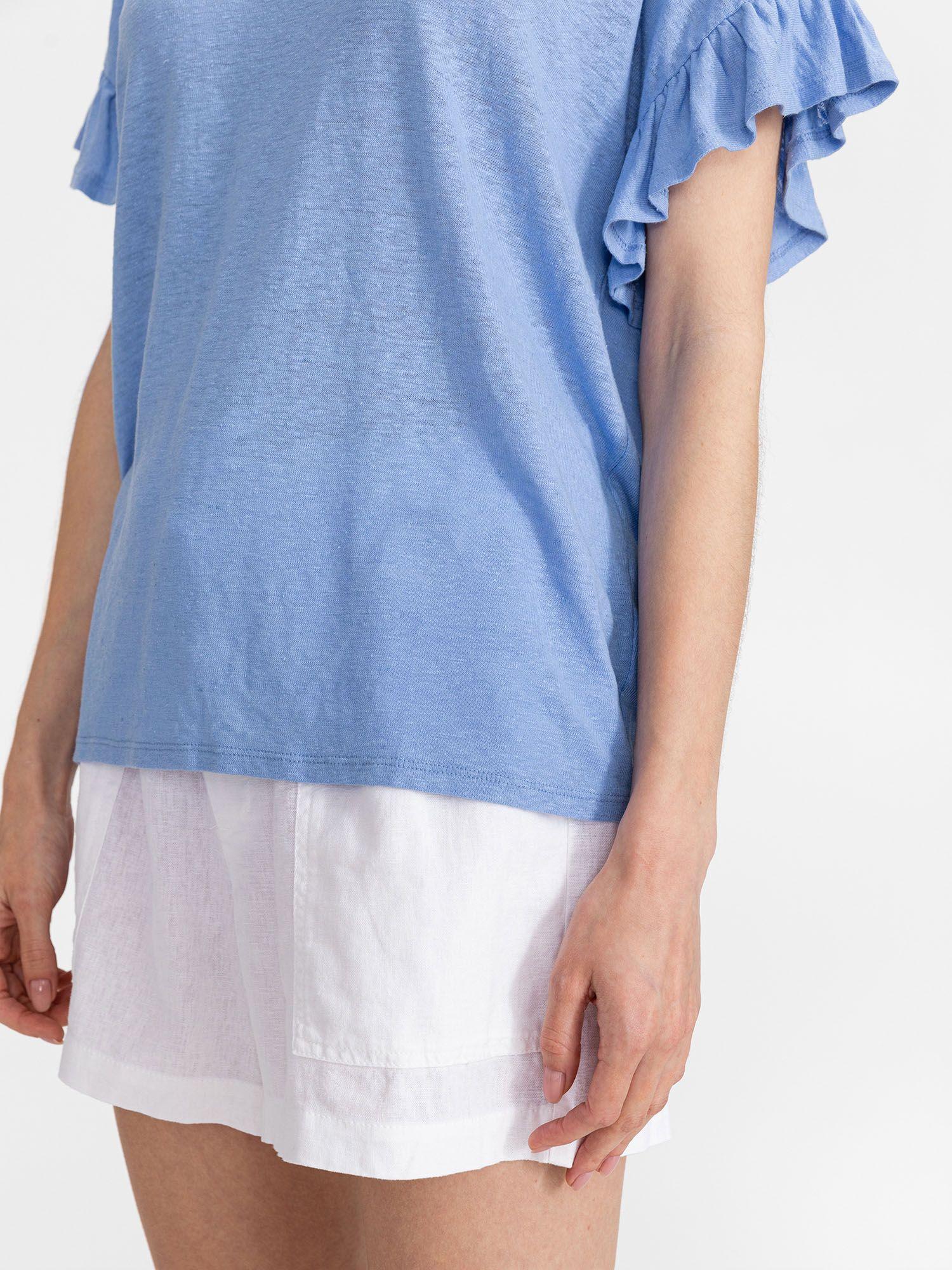 GAP niebieski koszulka Linen