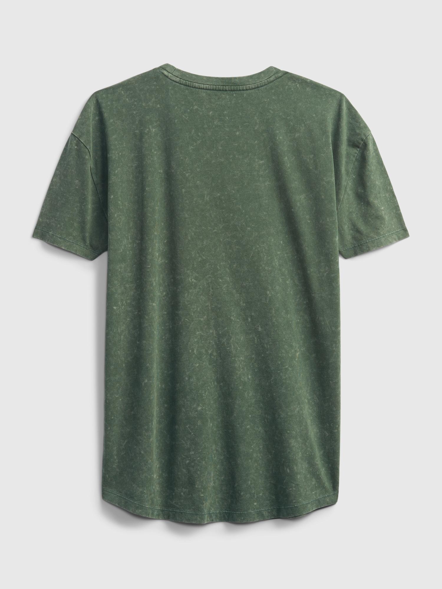 GAP TW Curved HM Podkoszulek Zielony