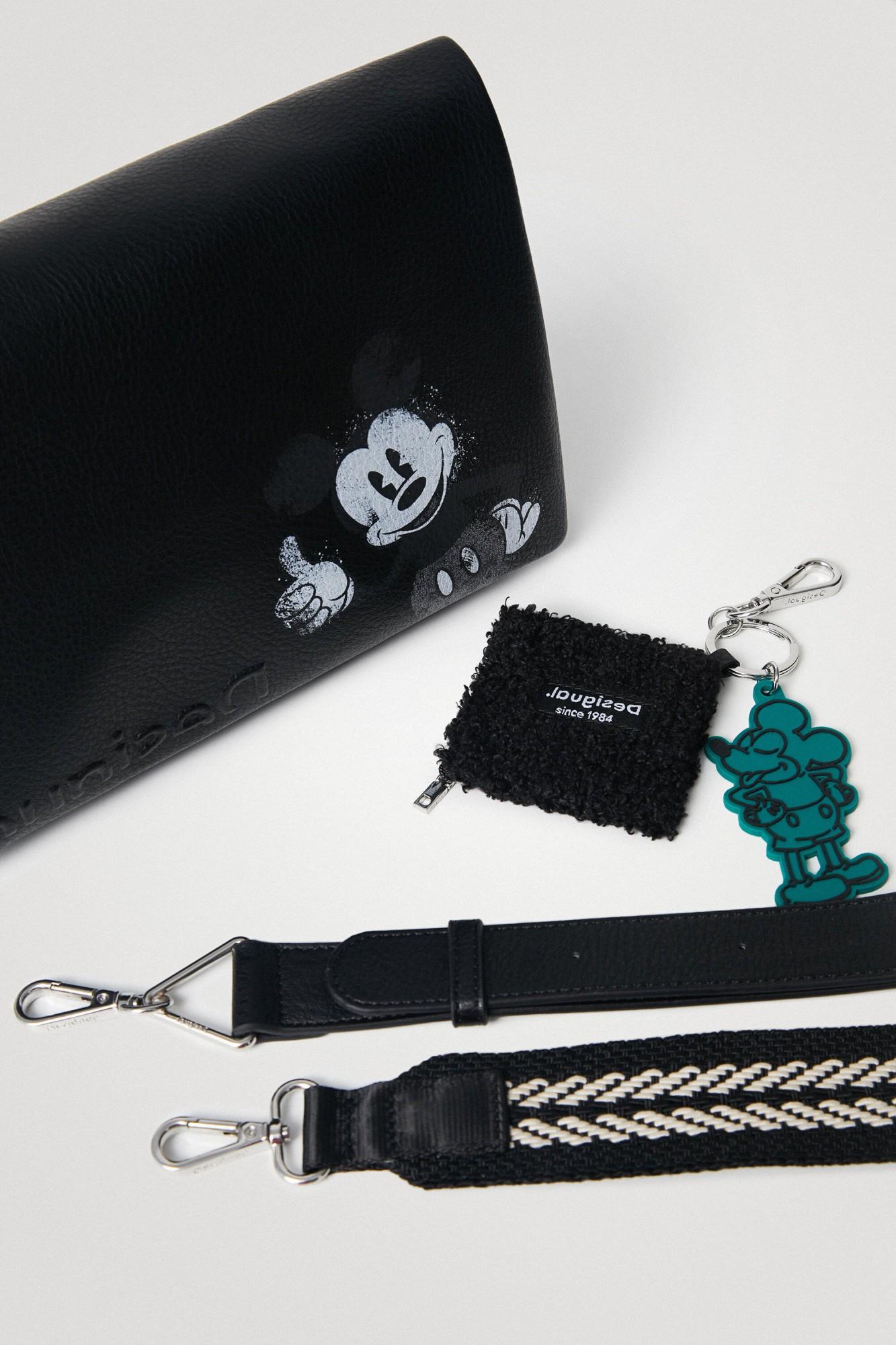 Desigual czarny crossbody torebka Mickey Dortmund Flap