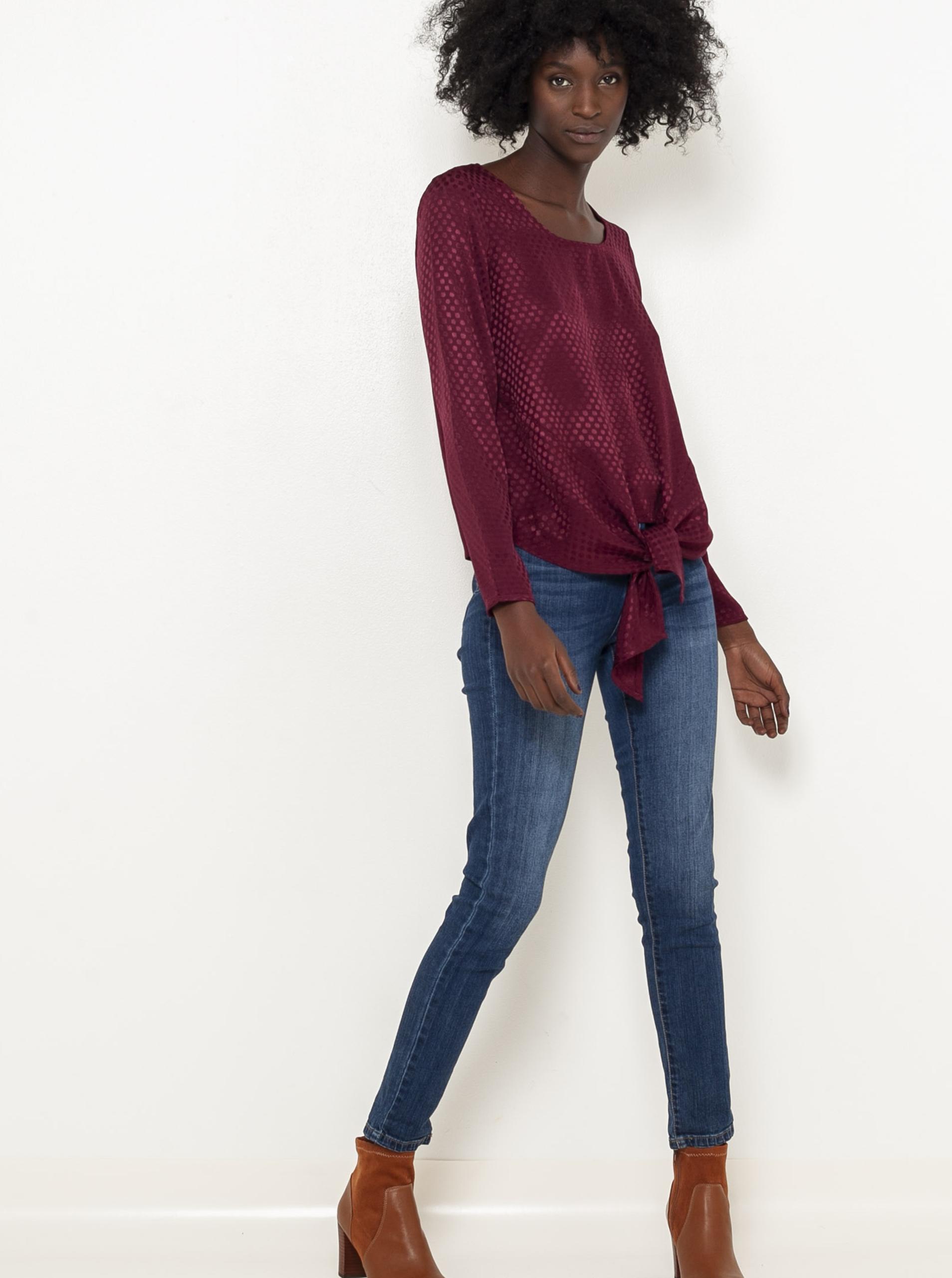 CAMAIEU wiśniowy/bordowy bluzka