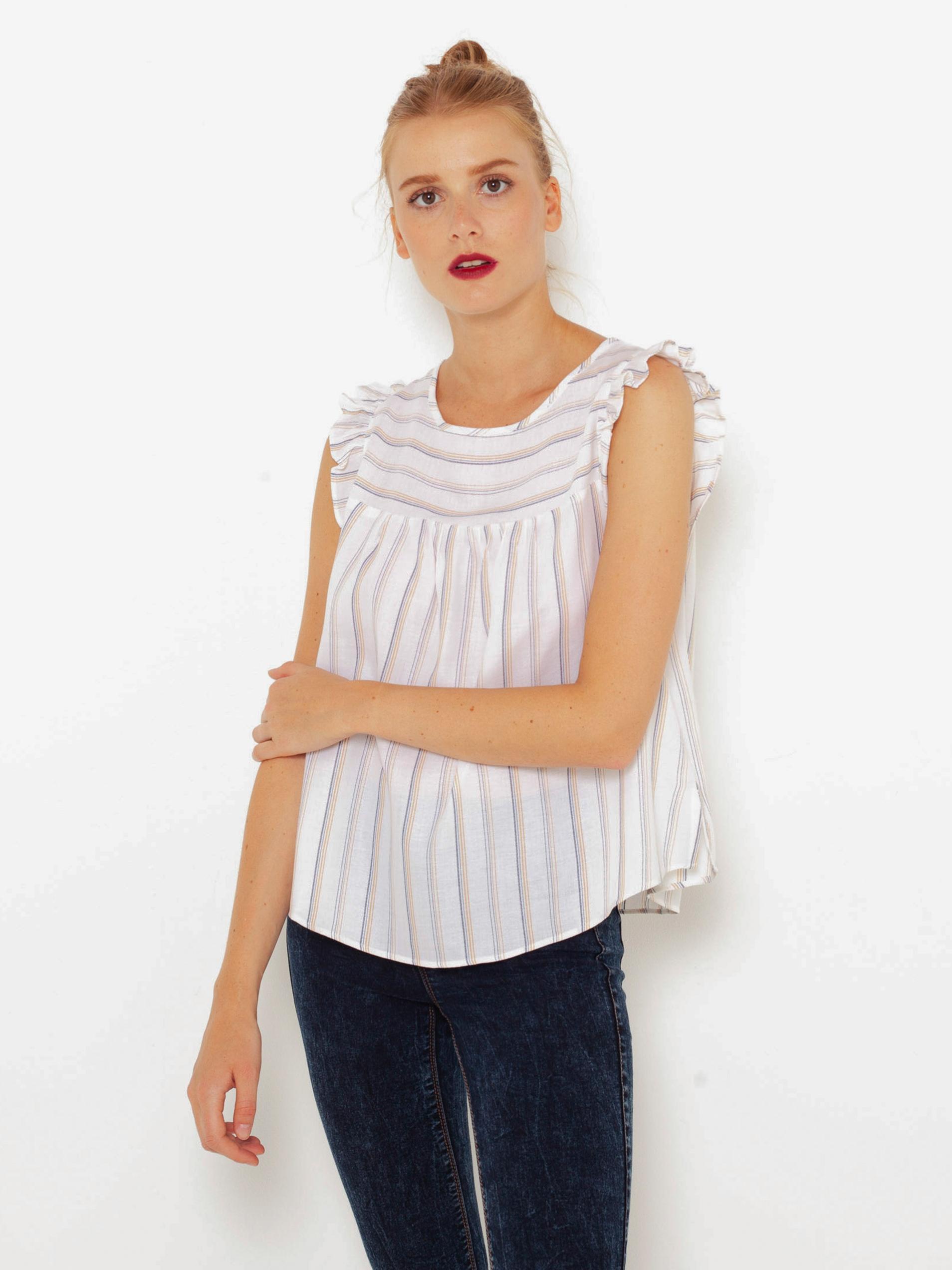 CAMAIEU biały w paski bluzka