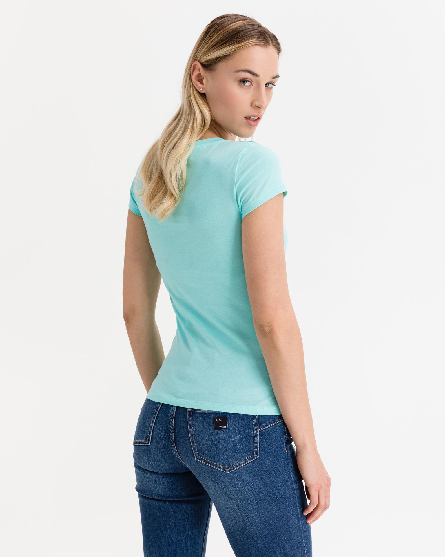 Armani Exchange niebieski damska koszulka