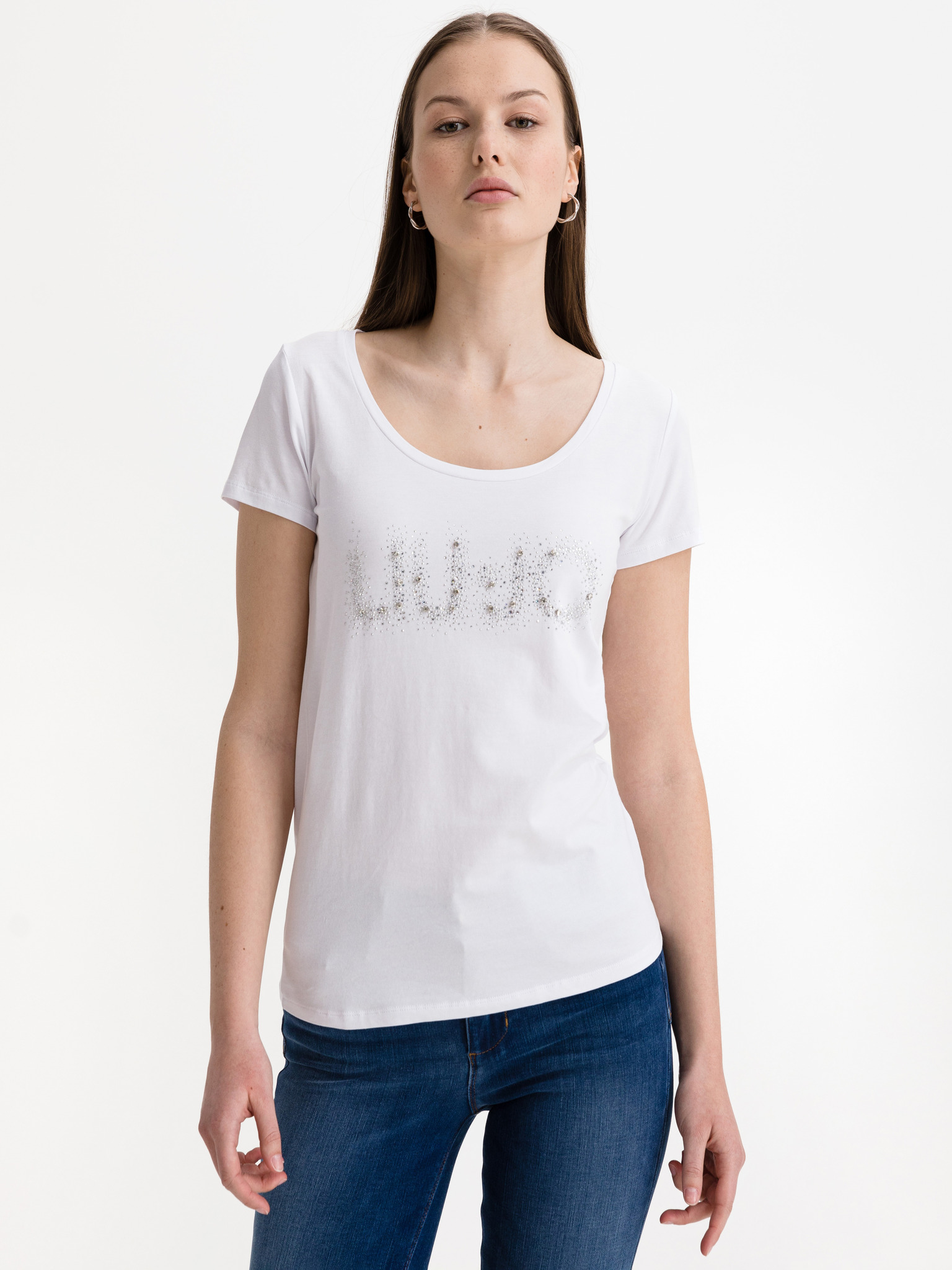 Liu Jo biały damska koszulka