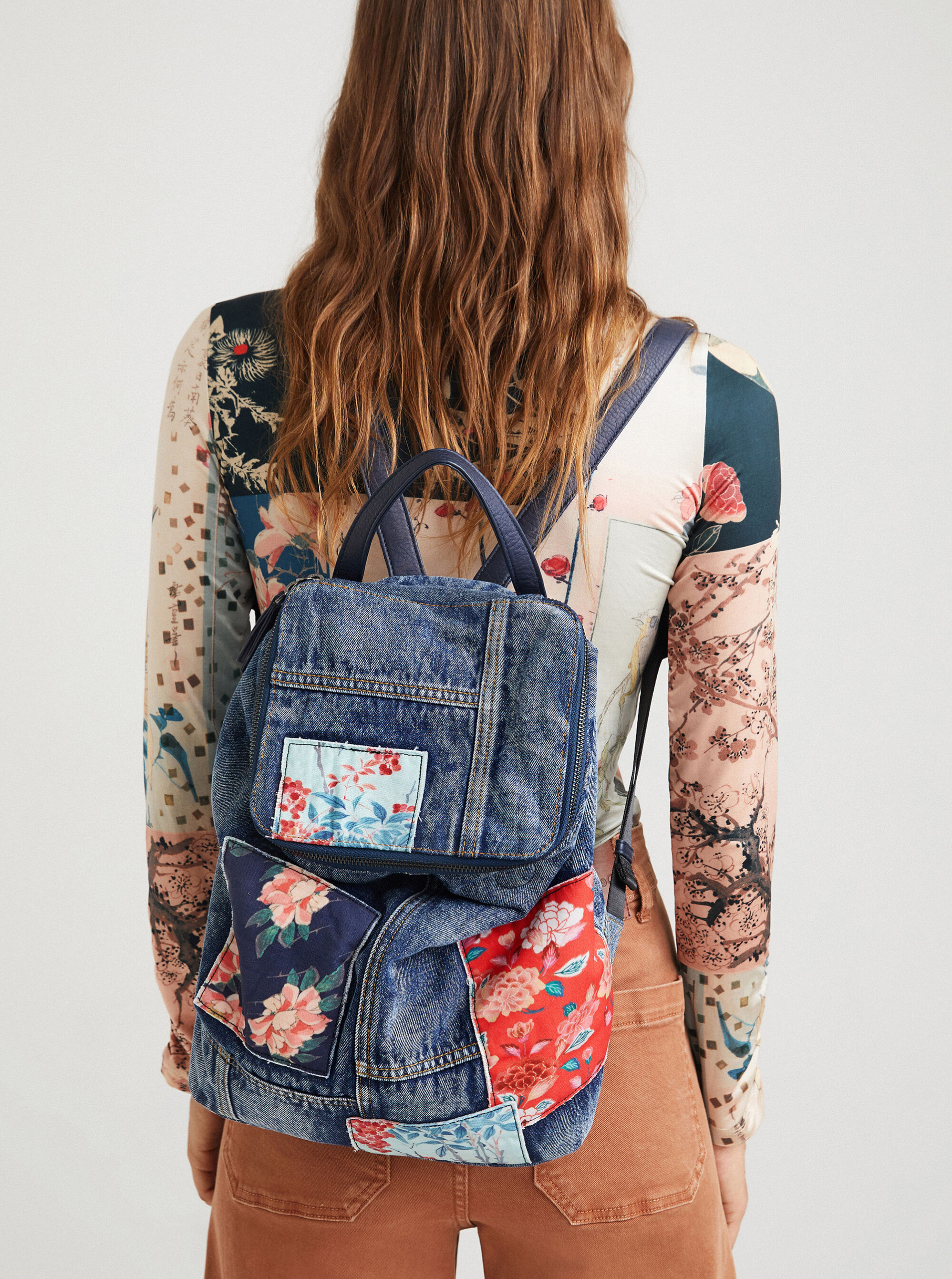 Desigual niebieski plecak Beta Patch Loen