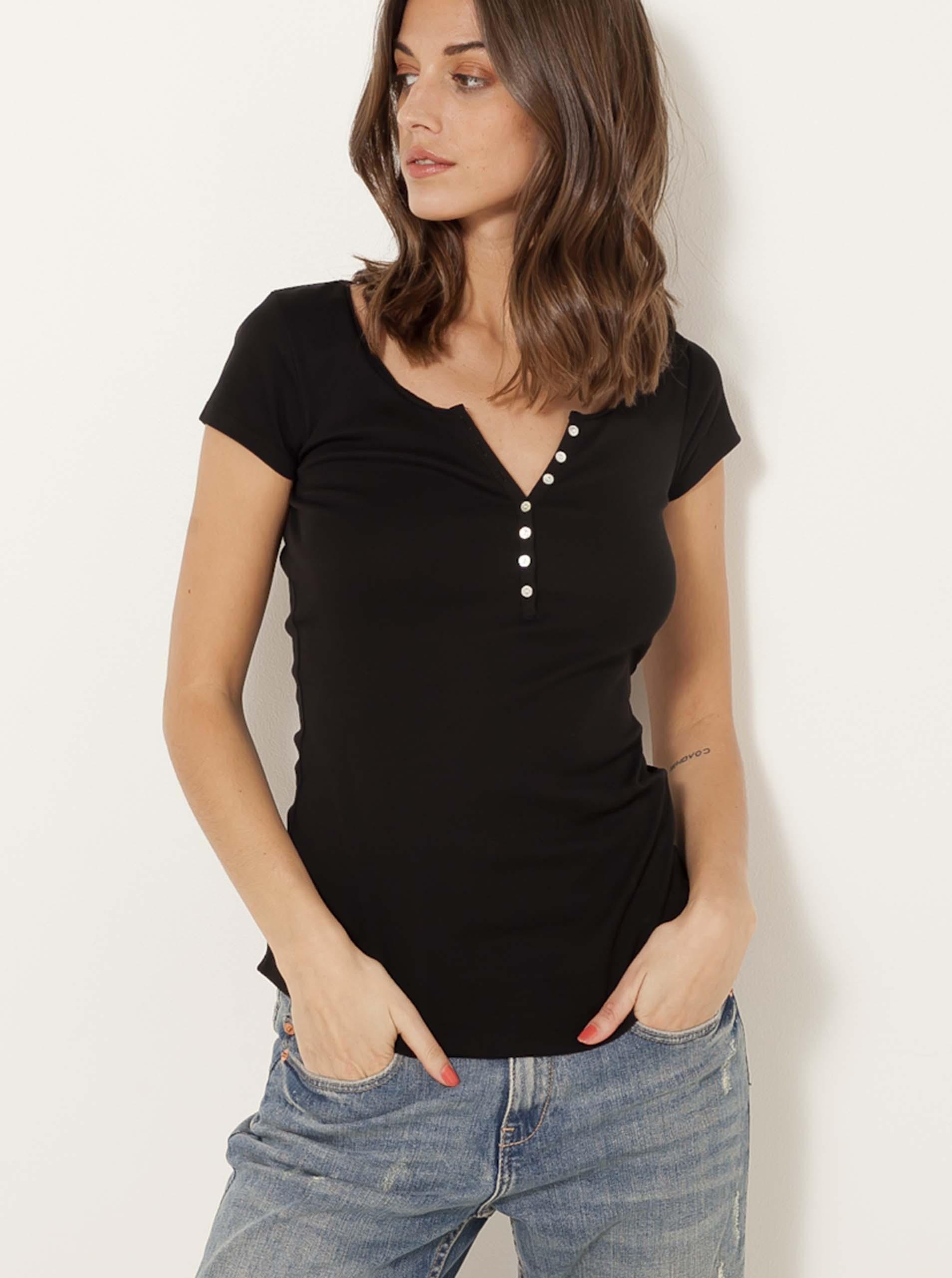 CAMAIEU czarny damska koszulka