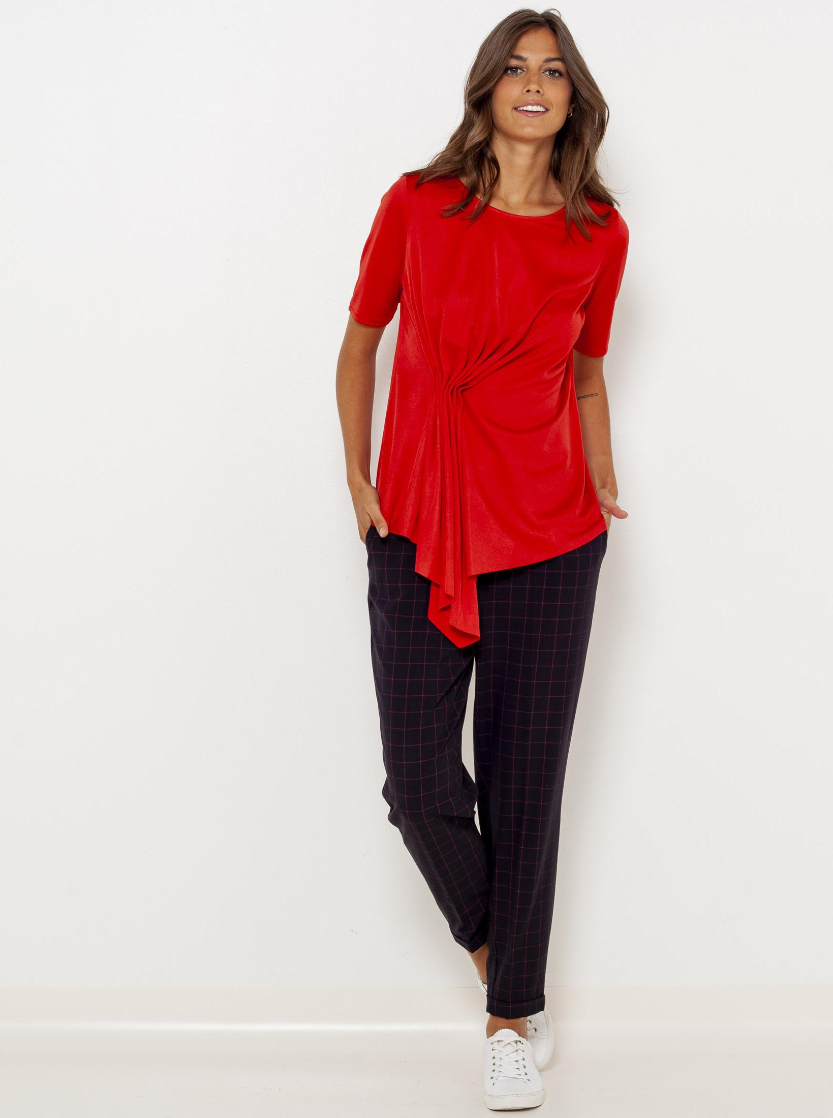 CAMAIEU czerwony bluzka