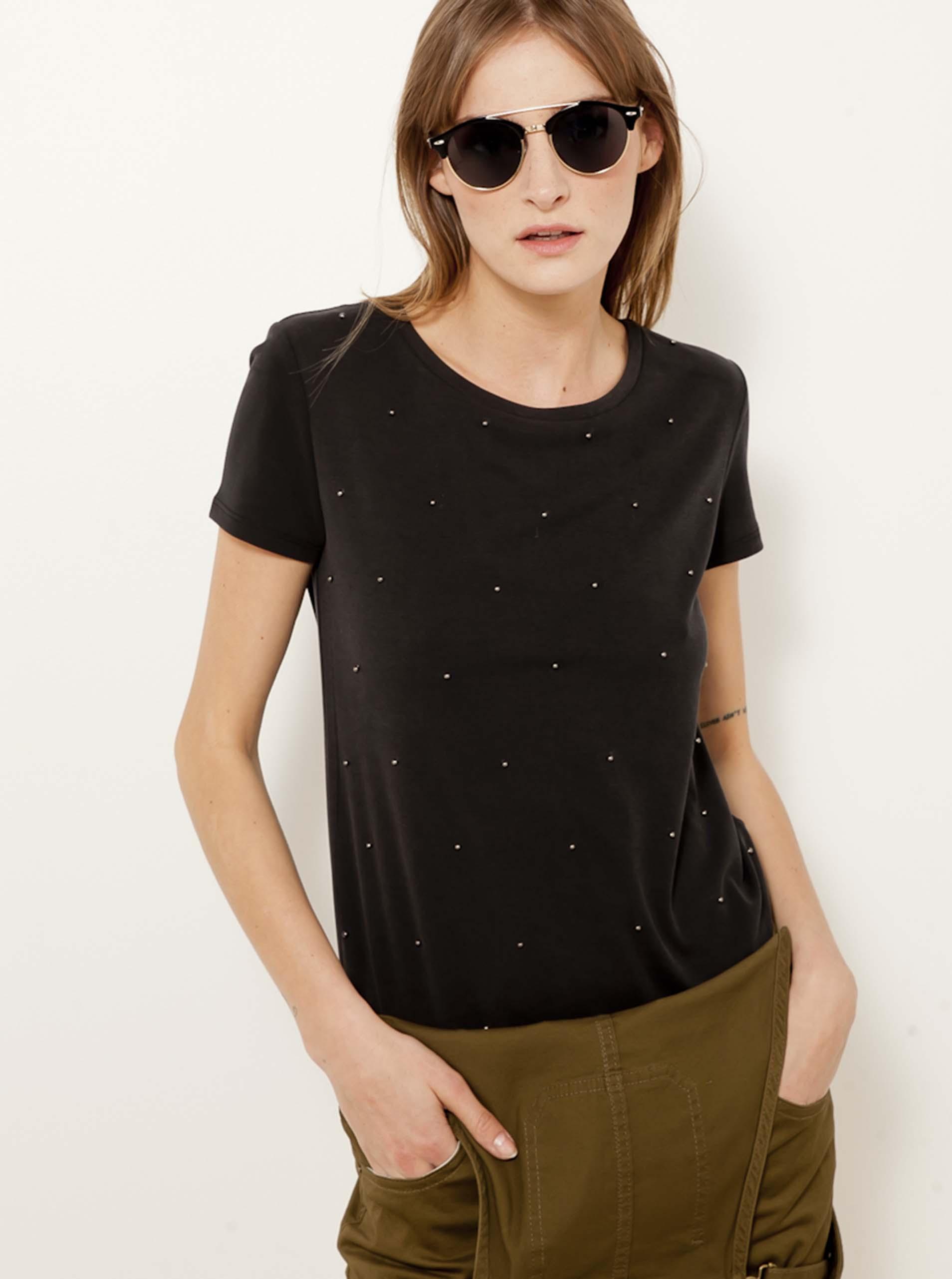 CAMAIEU Koszulka damska czarny