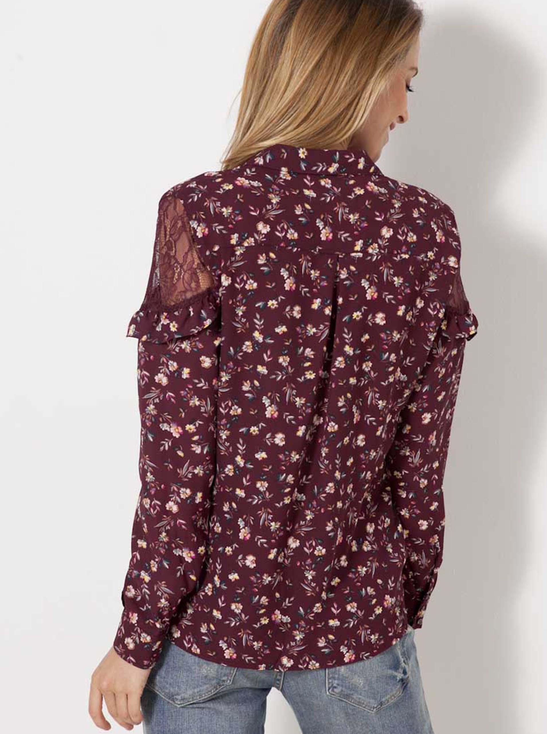 CAMAIEU Bluzka damska wiśniowy