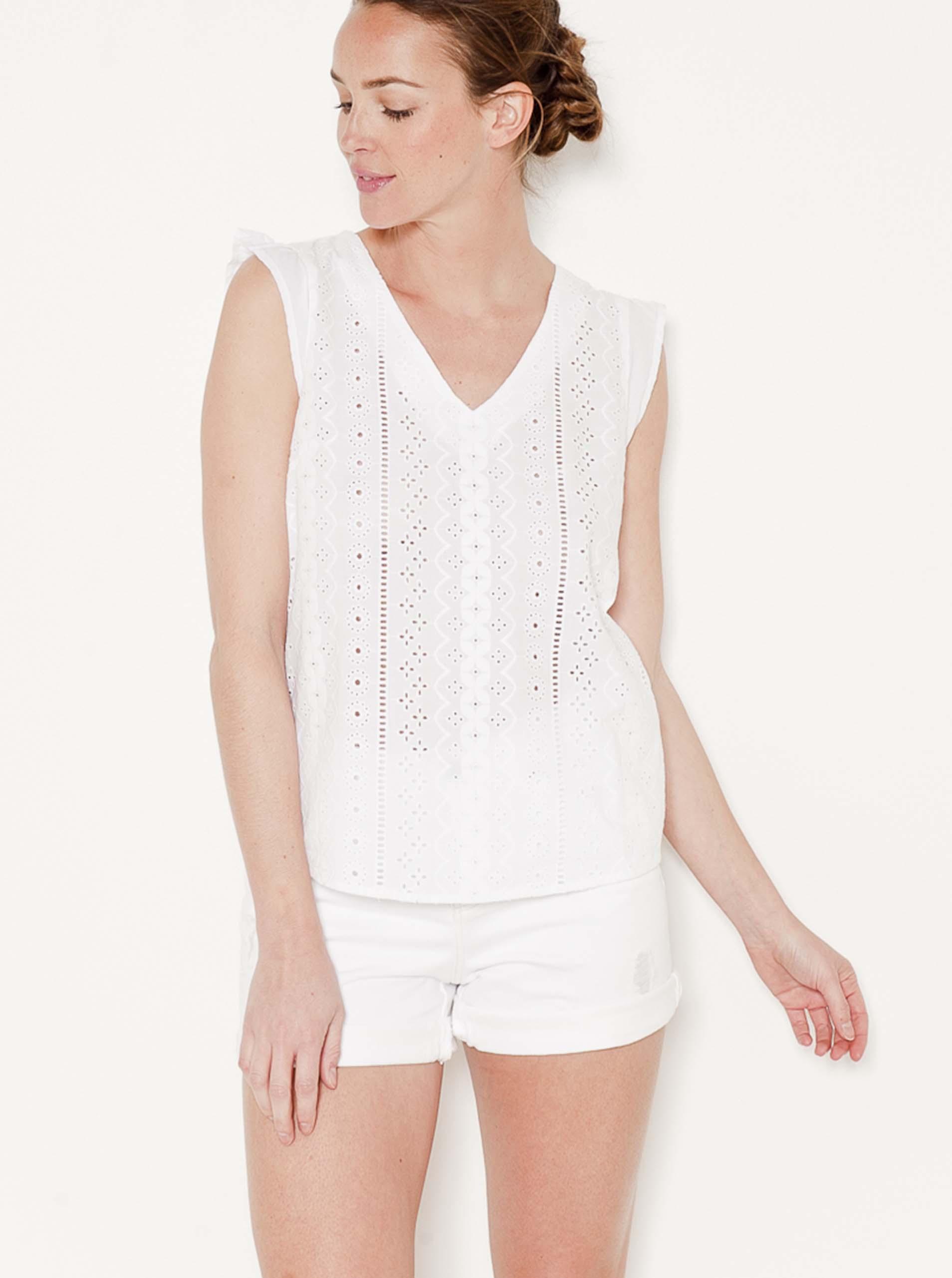 CAMAIEU Bluzka damska biały