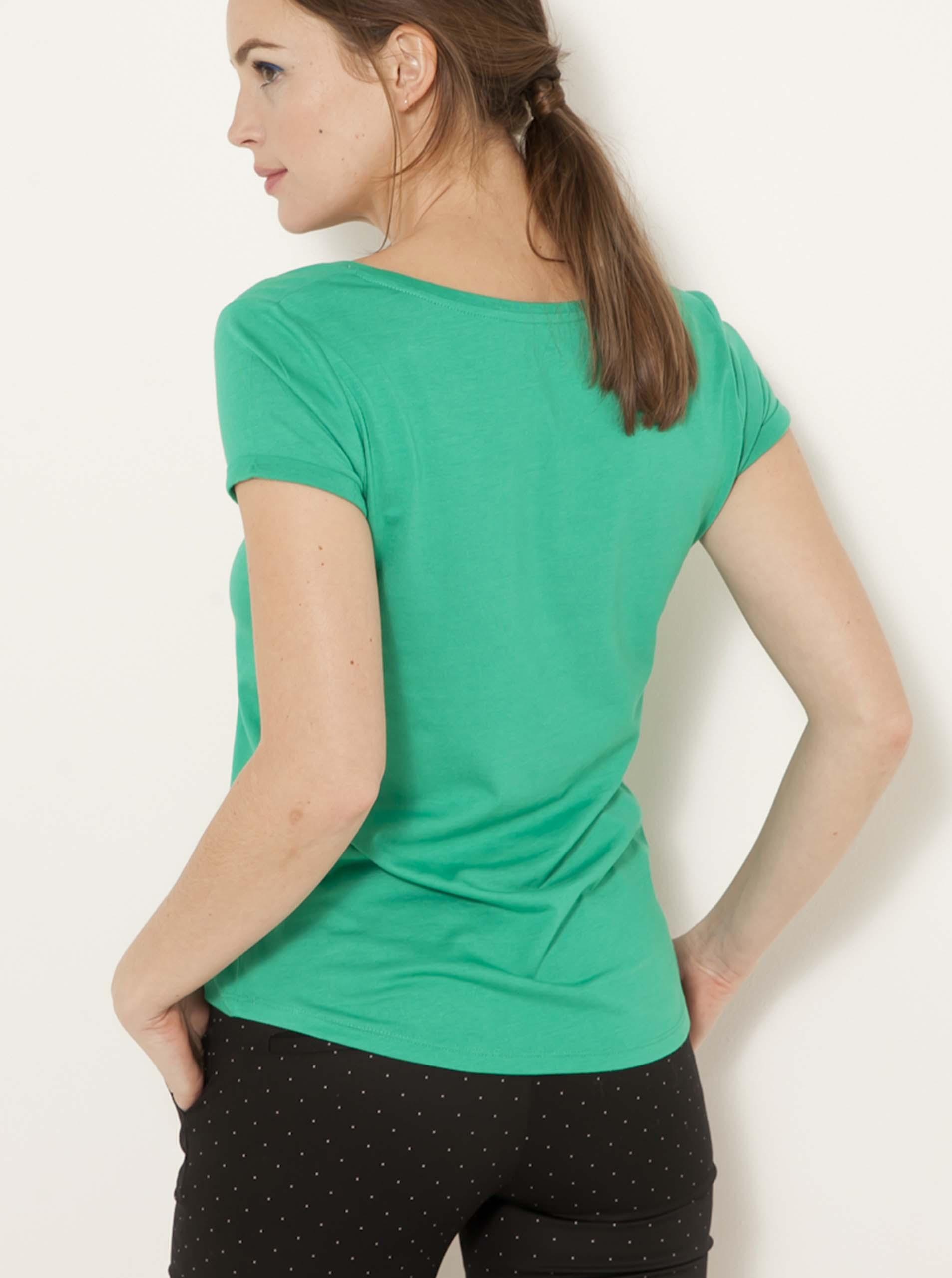 CAMAIEU Koszulka damska zielony