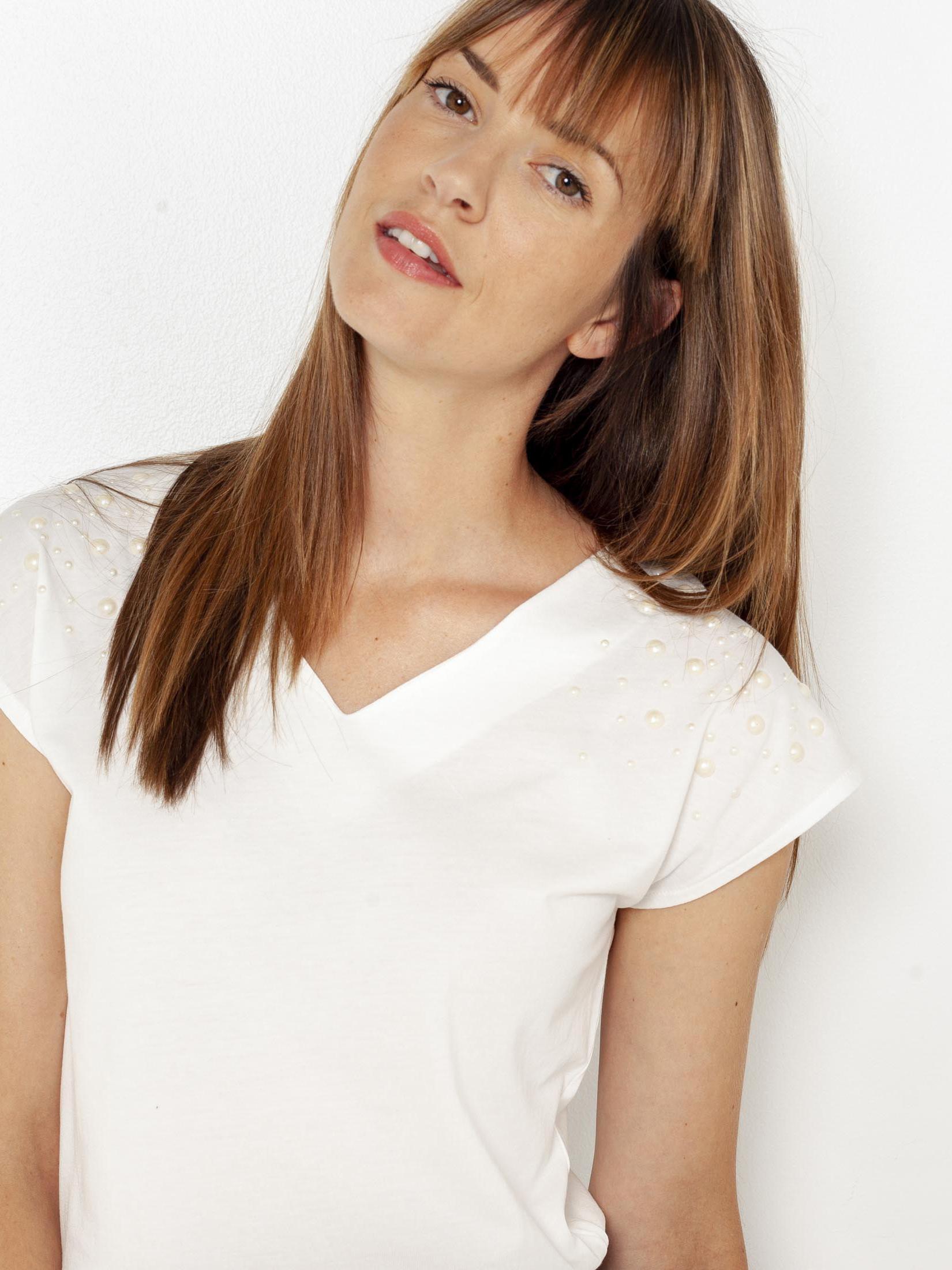 CAMAIEU biały damska koszulka