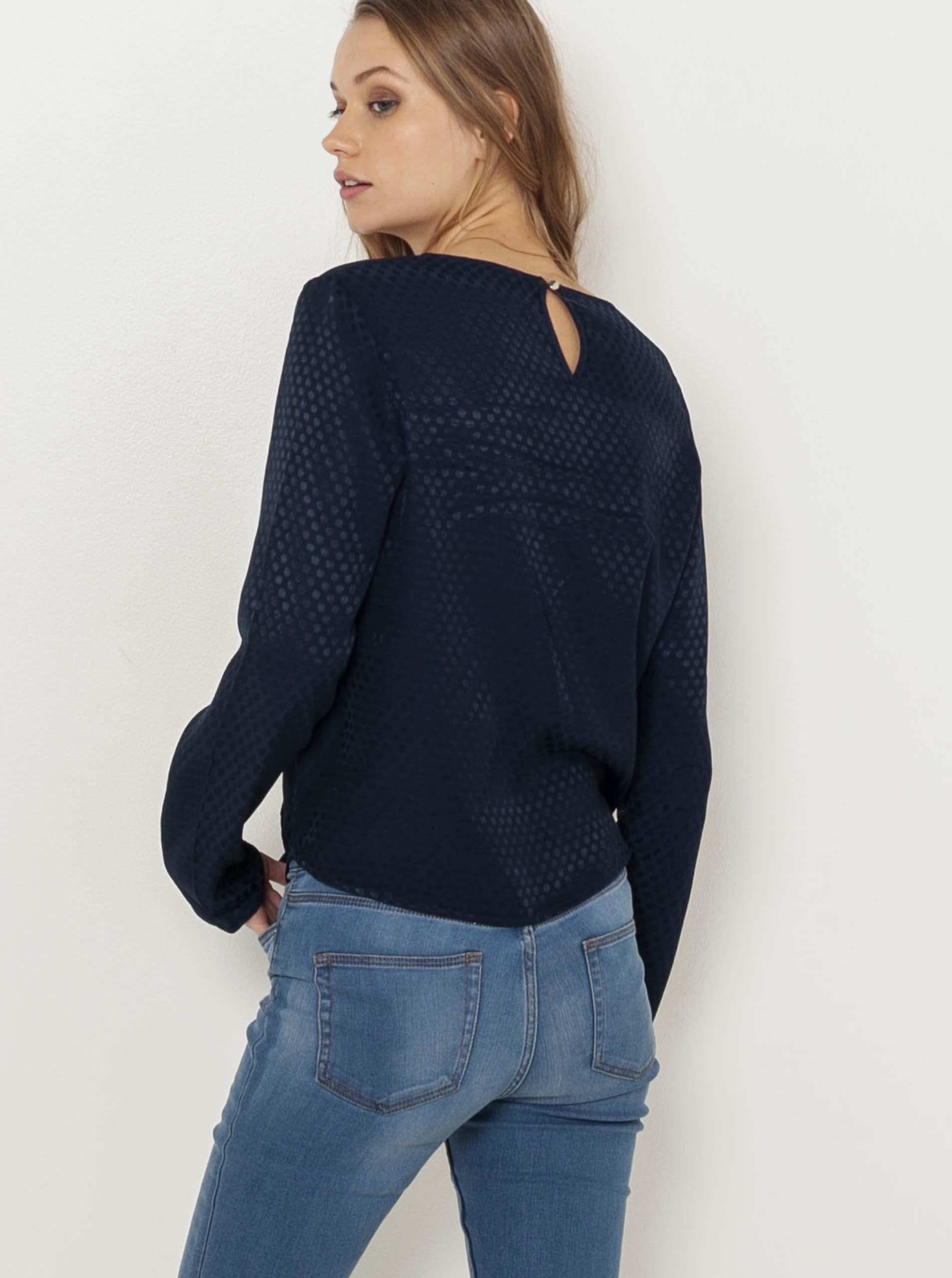 CAMAIEU niebieski bluzka z wzorem