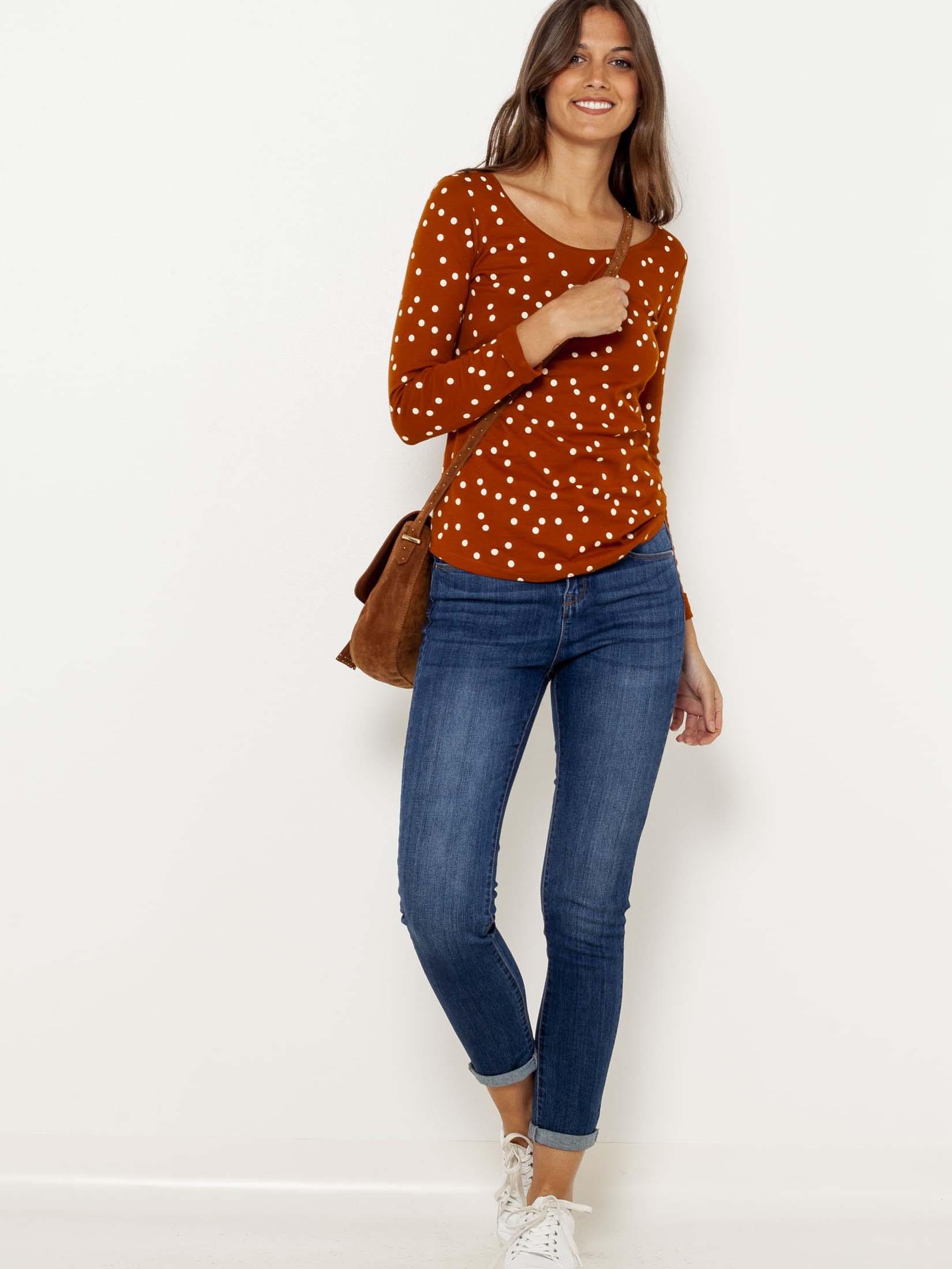 CAMAIEU Koszulka damska brązowy