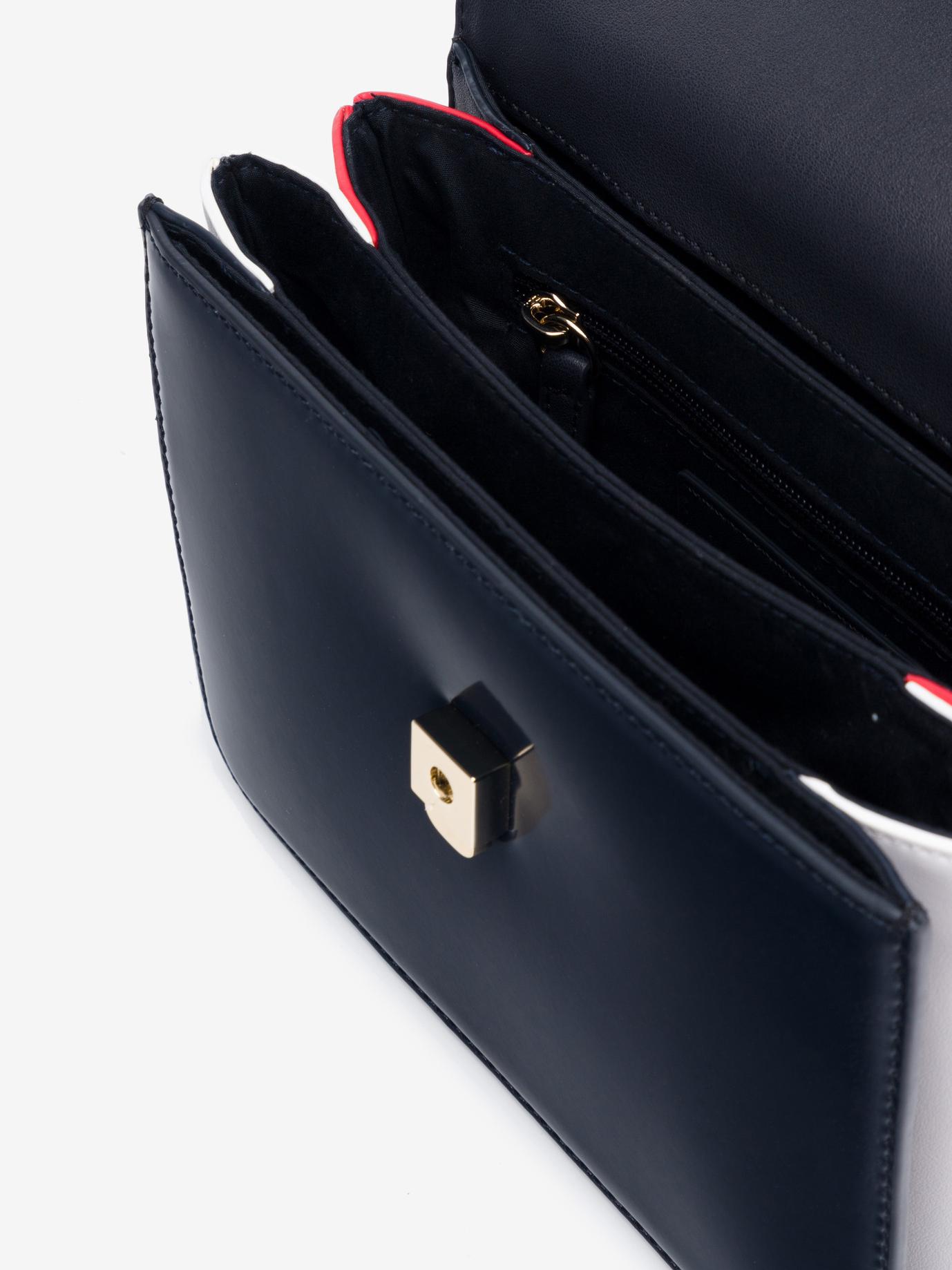 Tommy Hilfiger niebieski crossbody torebka Monogram Plaque