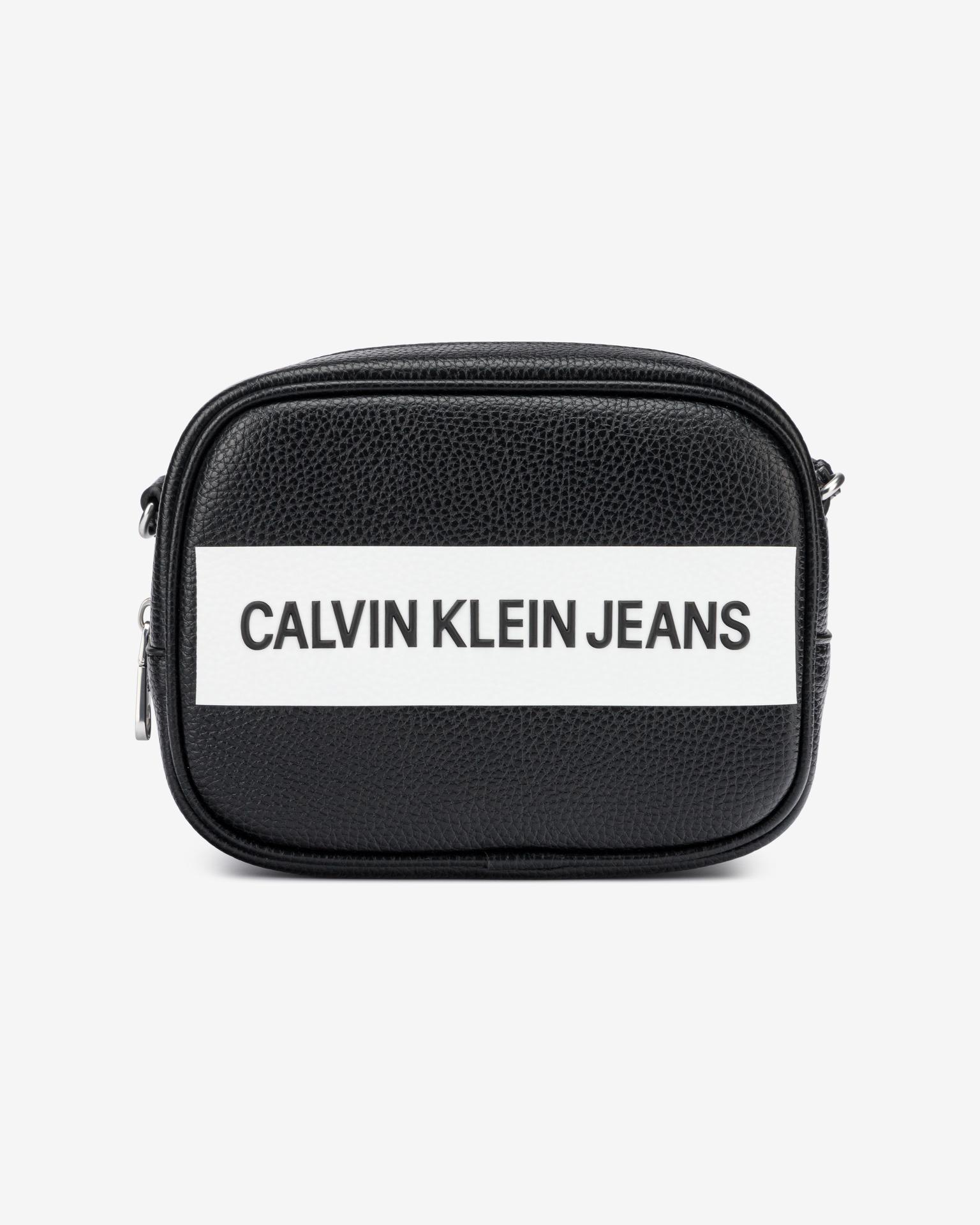 Calvin Klein czarny crossbody torebka Camera