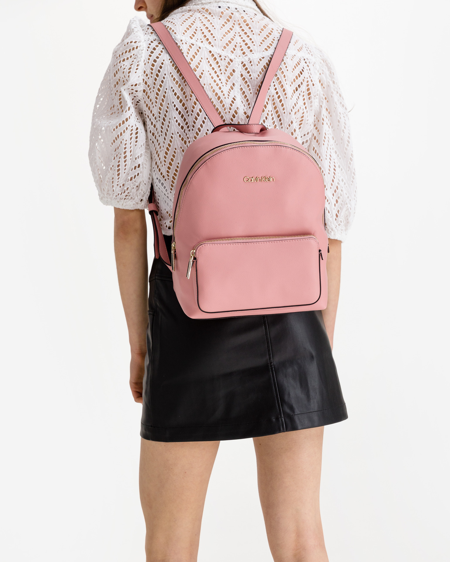 Calvin Klein różowy plecak Campus Medium