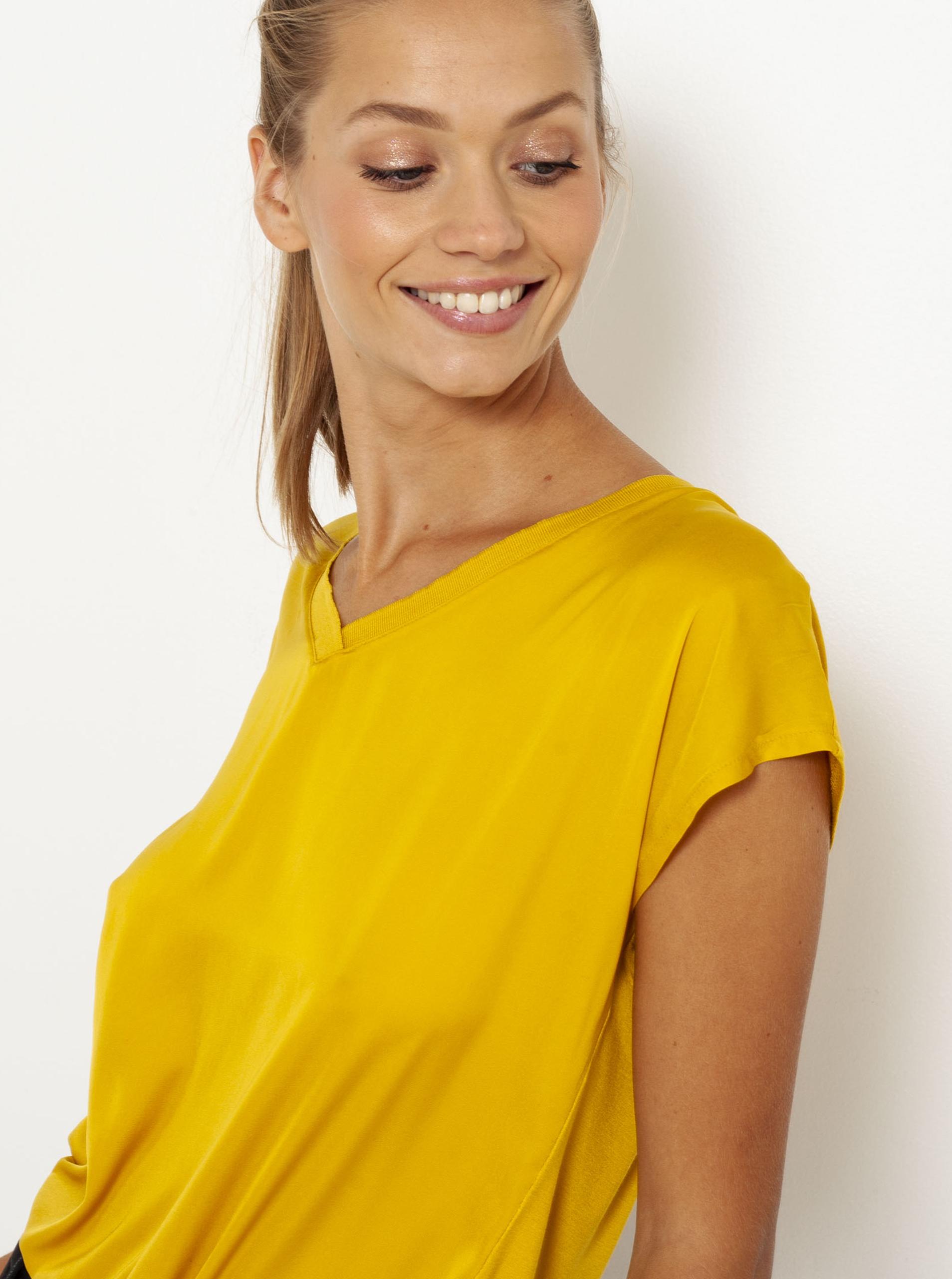 CAMAIEU żółty koszulka