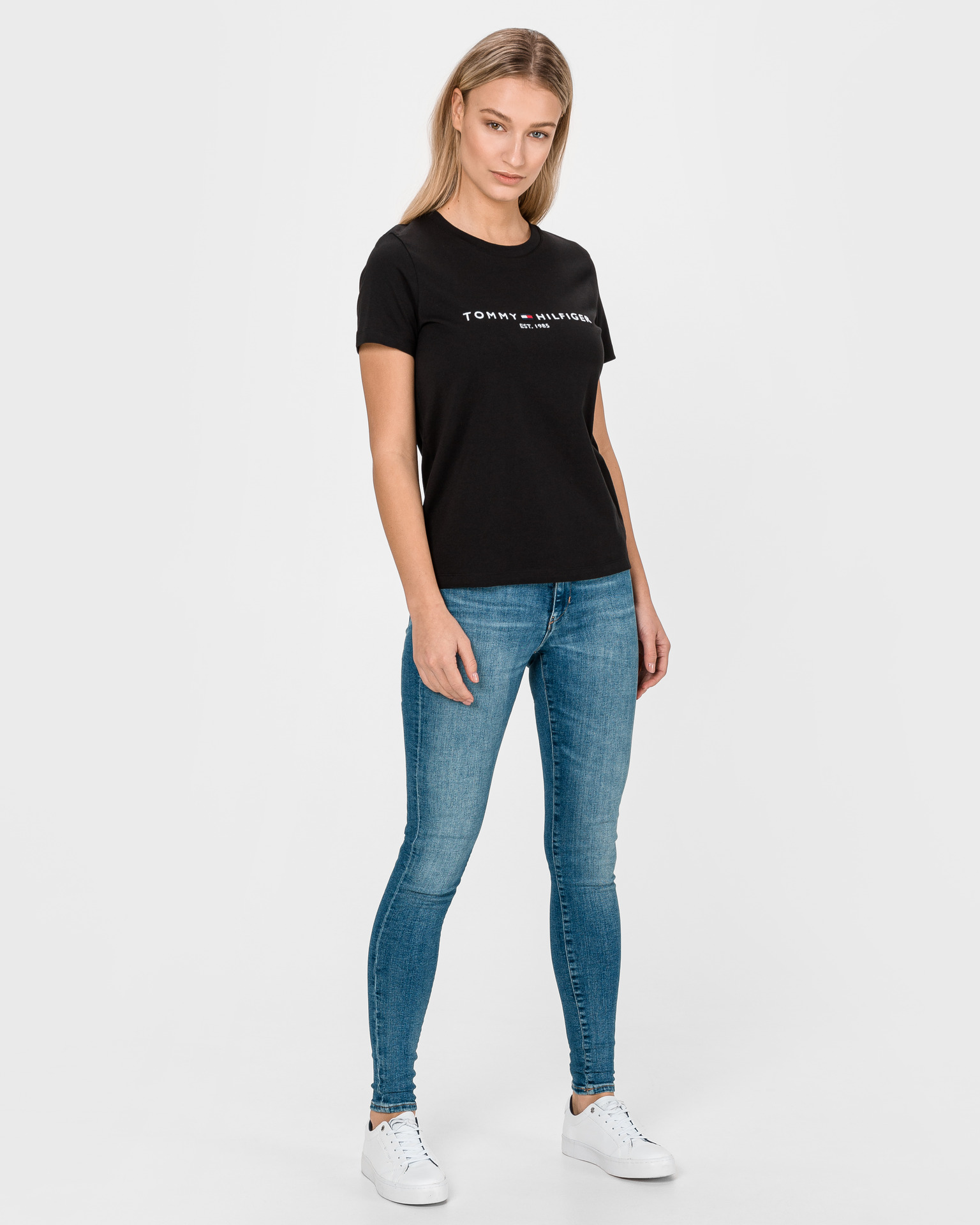 Tommy Hilfiger czarny damska koszulka Essential