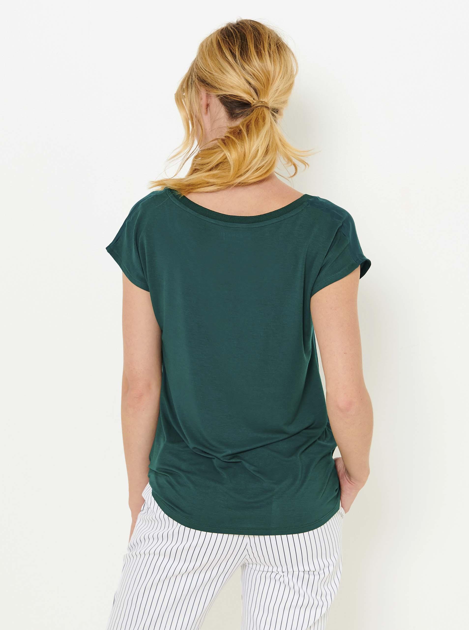 CAMAIEU Koszulka damska oliwkowy