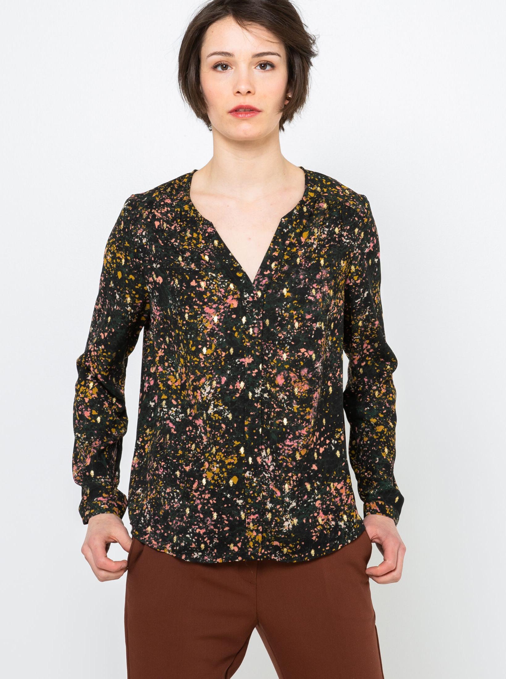 CAMAIEU bluzka z wzorem
