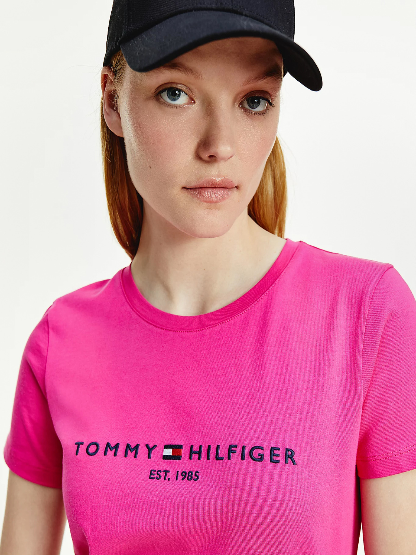 Tommy Hilfiger różowy damska koszulka Essential