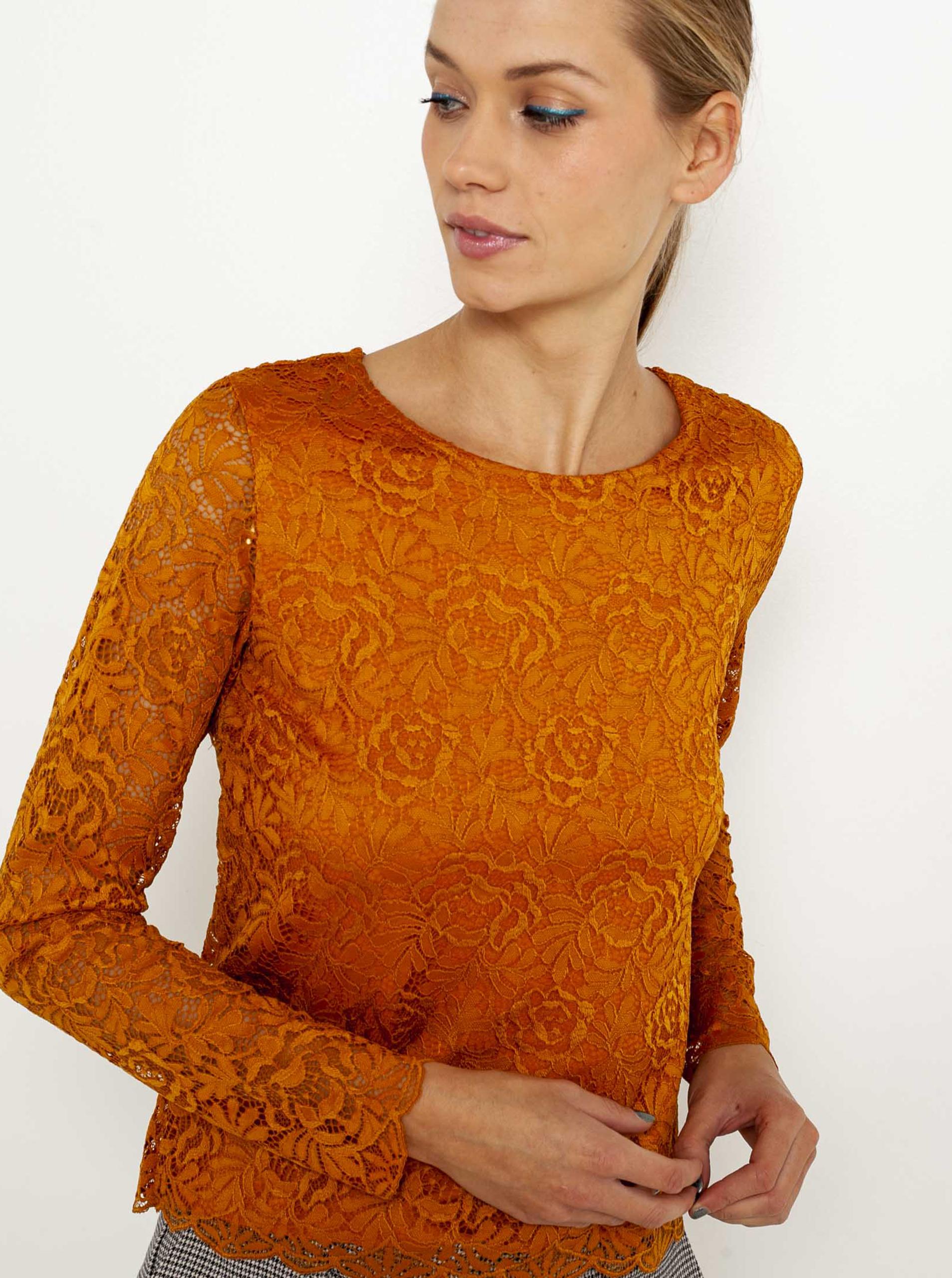 CAMAIEU Bluzka damska pomarańczowy