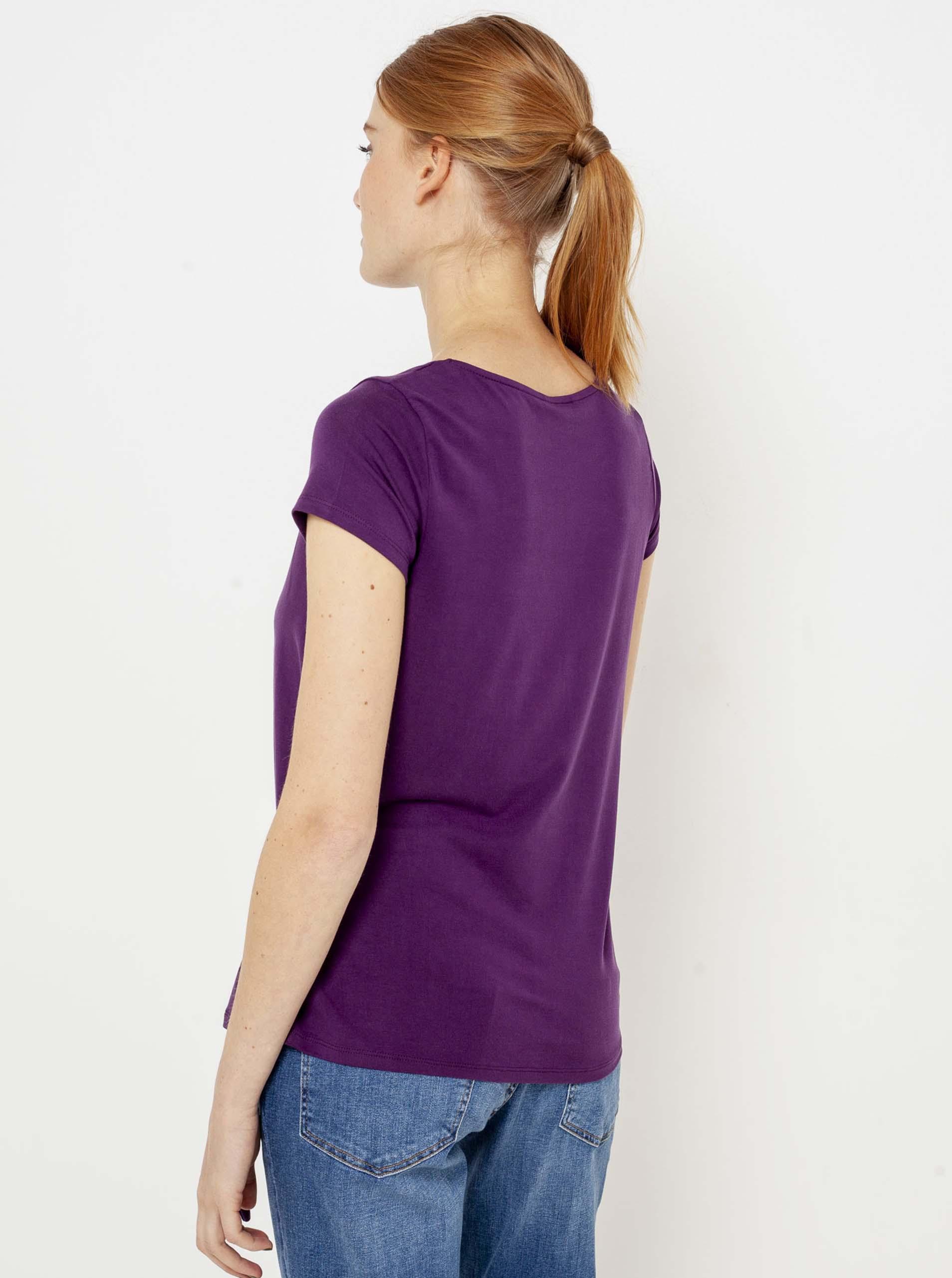 CAMAIEU Koszulka damska fioletowy