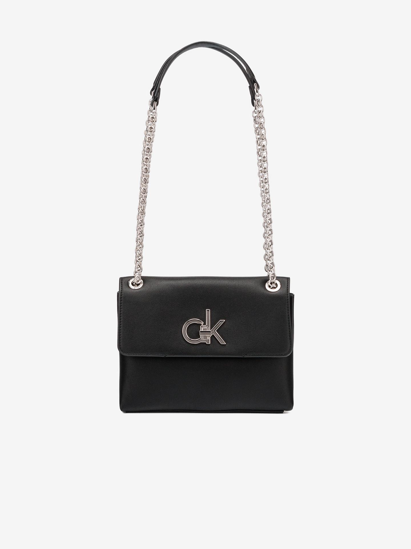 Calvin Klein czarny crossbody torba Ew Conv Flap