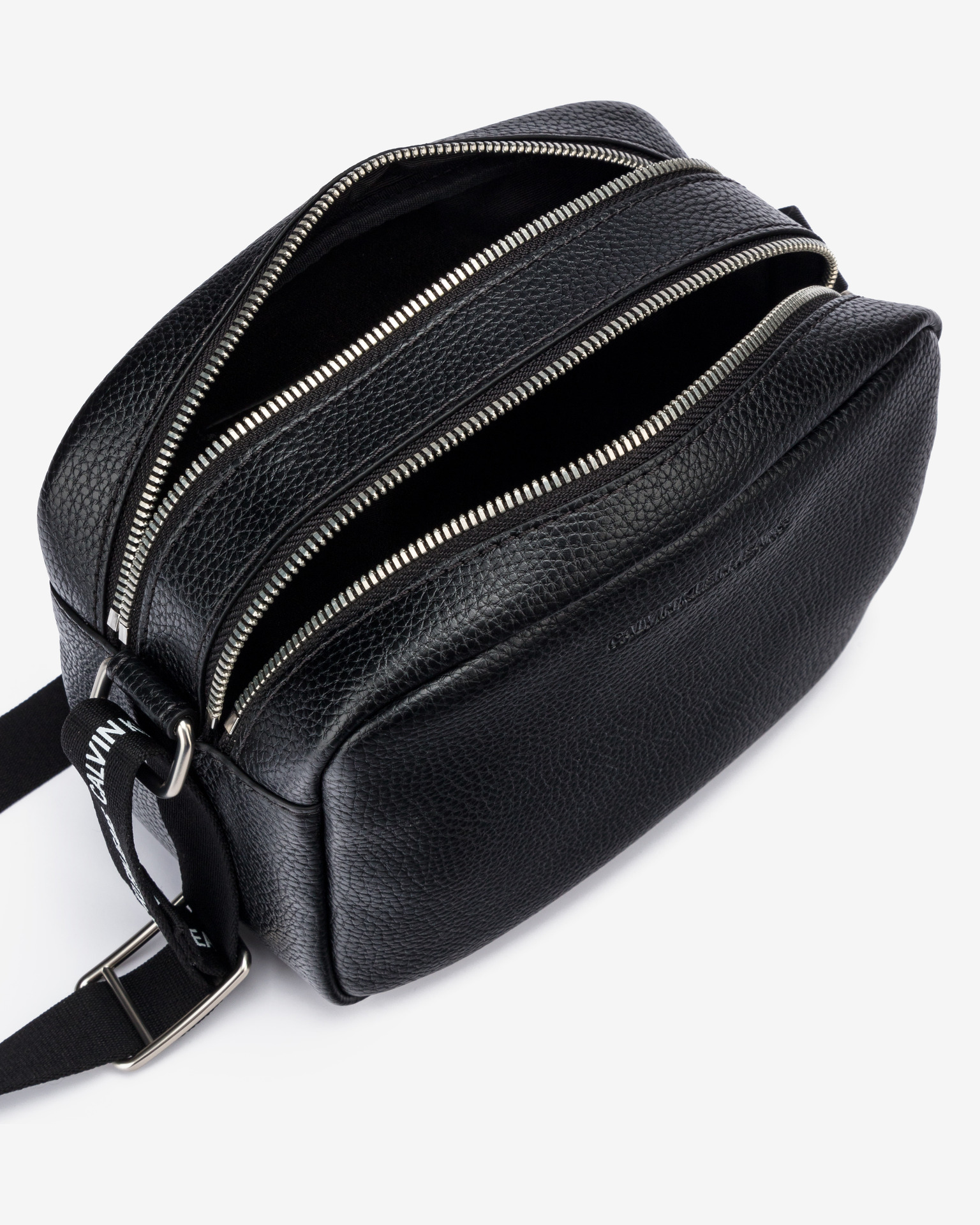 Calvin Klein czarny crossbody torba Double Zip Camera