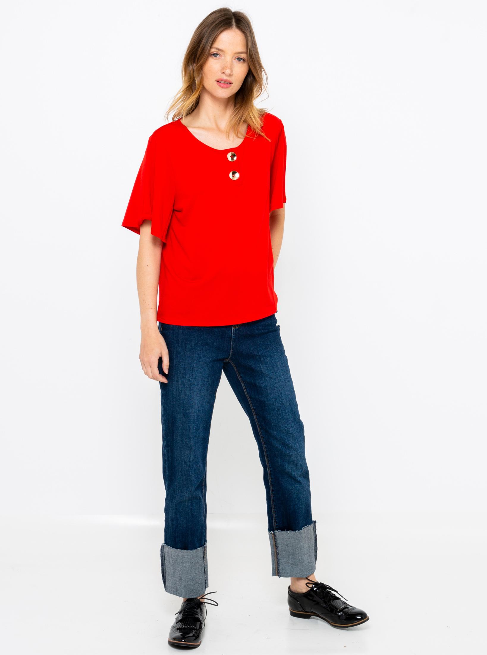 CAMAIEU czerwony koszulka