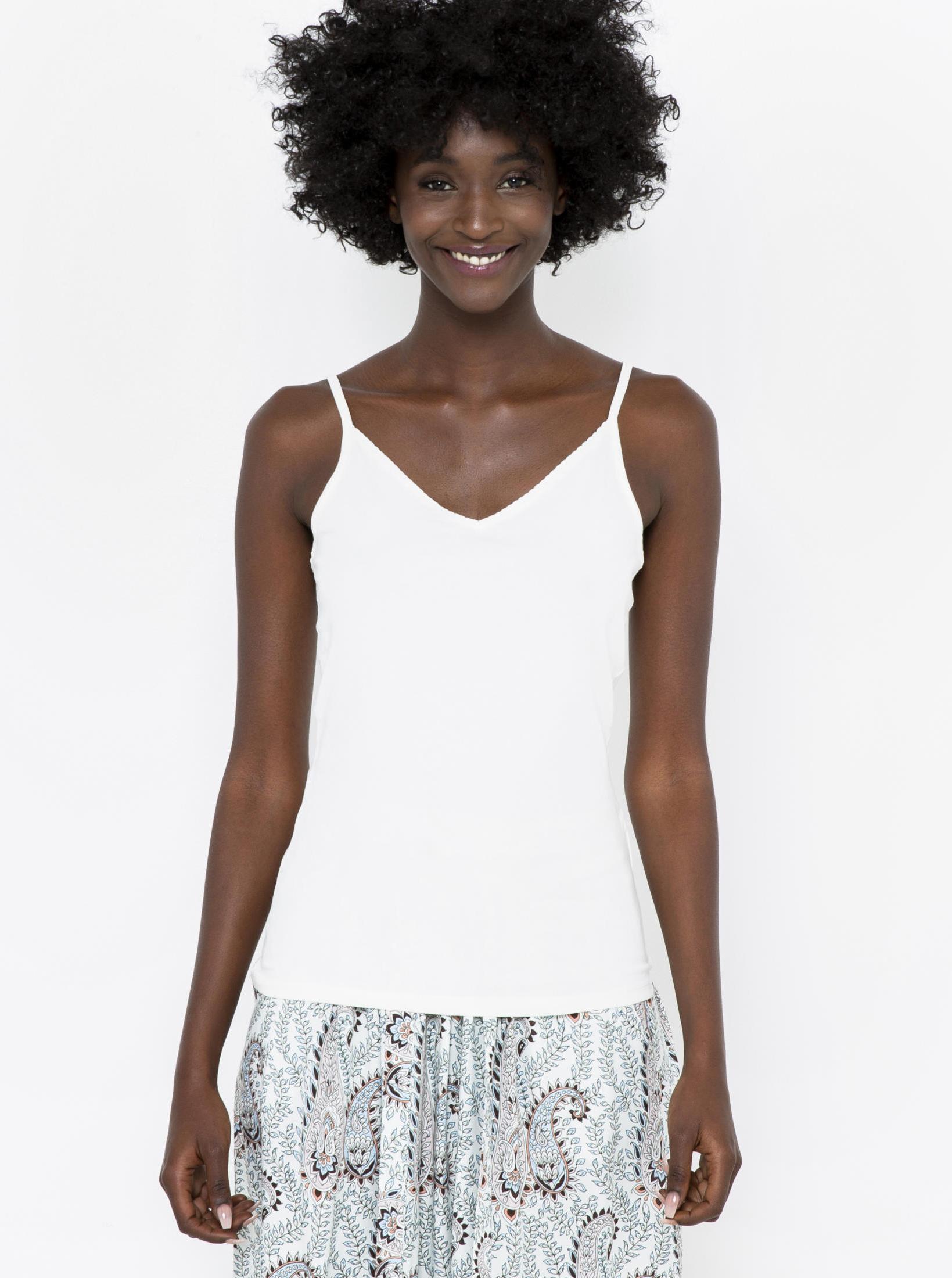 CAMAIEU biały basic top