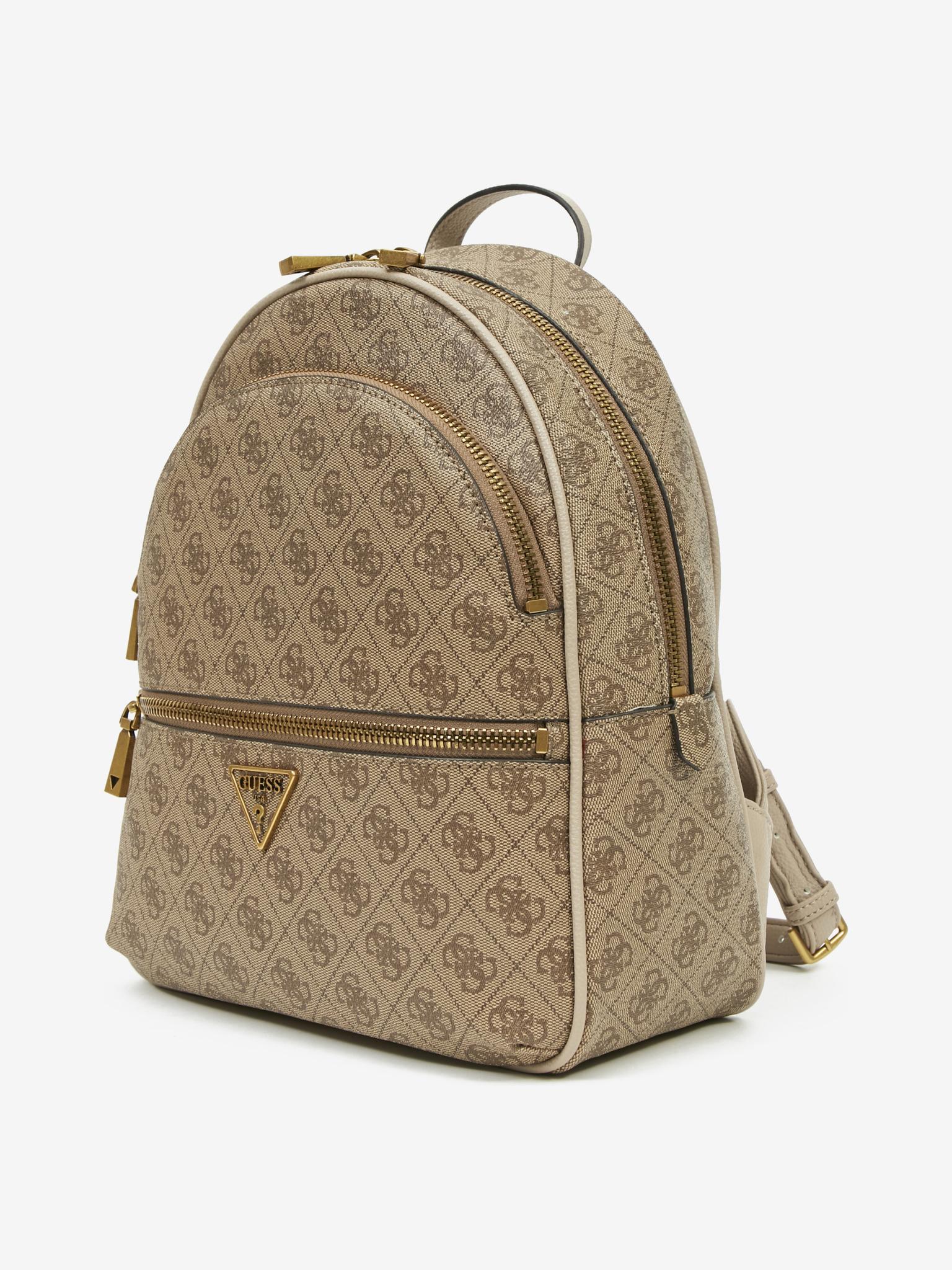 Guess brązowy plecak Manhattan Large