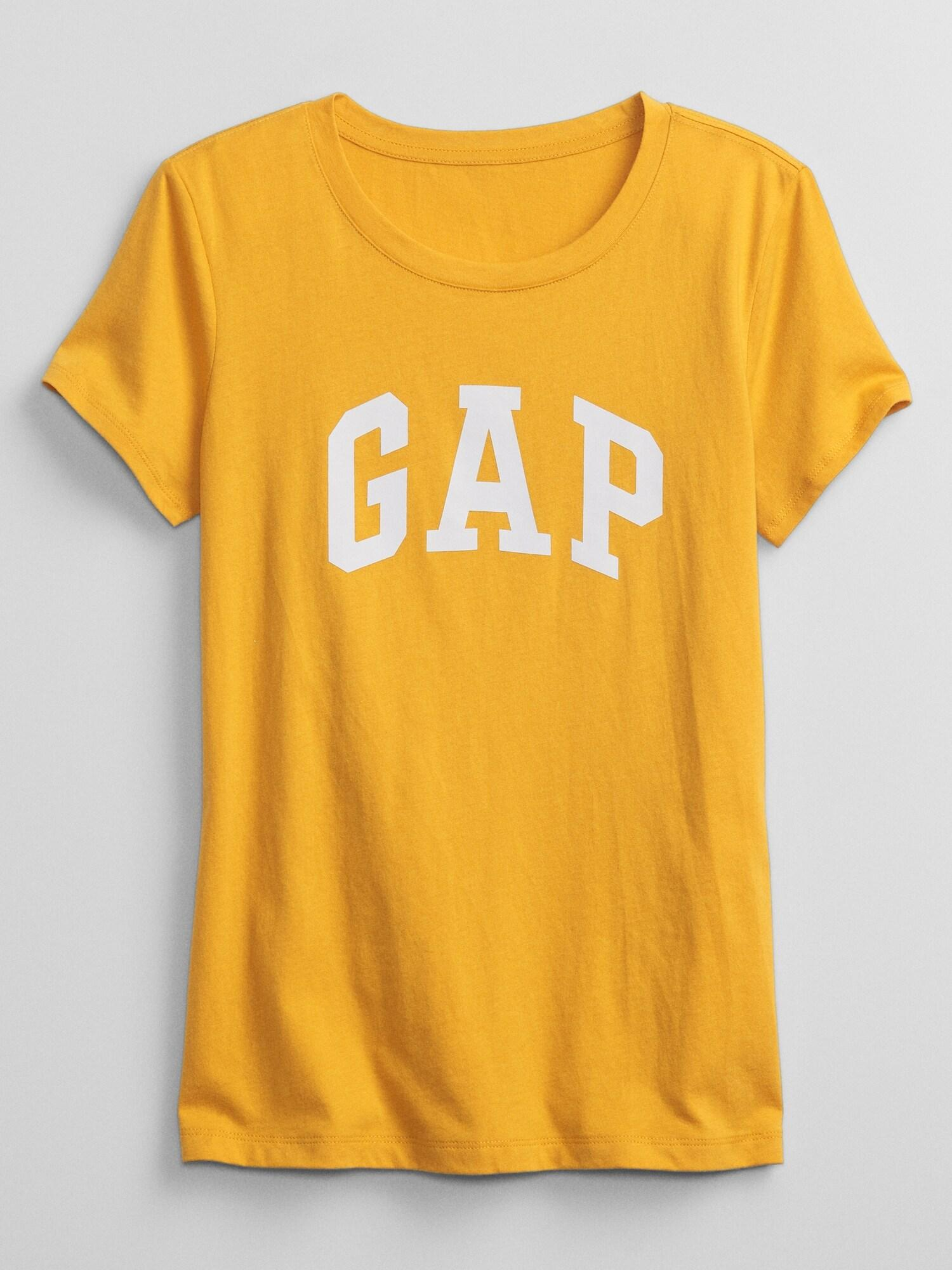 GAP Koszulki, topy damskie żółty