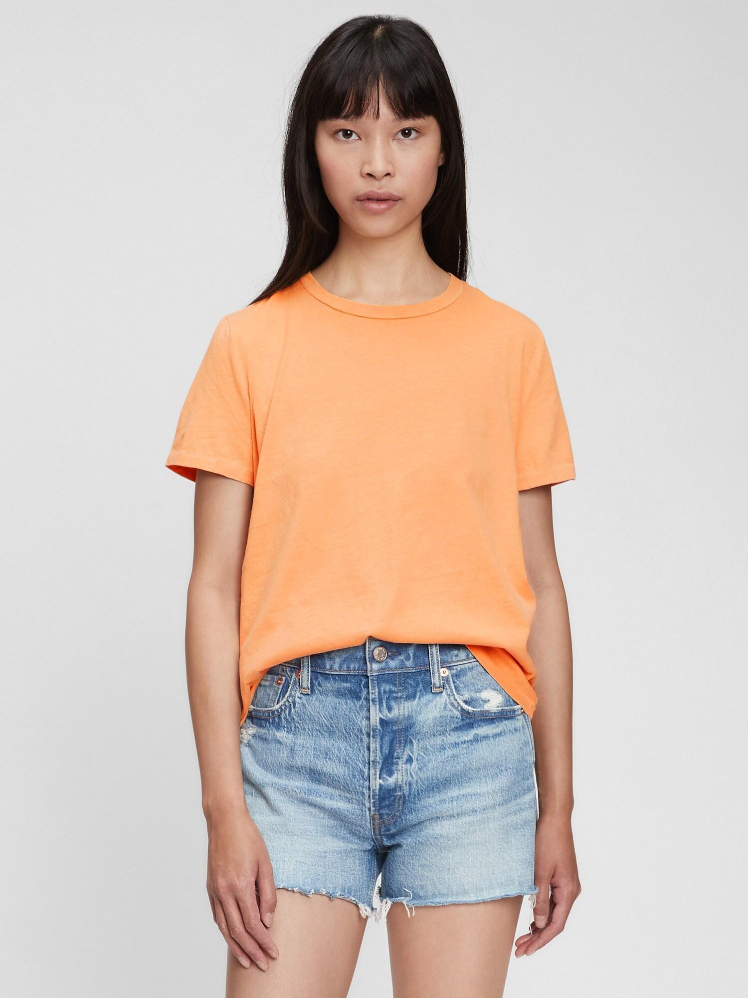 GAP Koszulki, topy damskie pomarańczowy