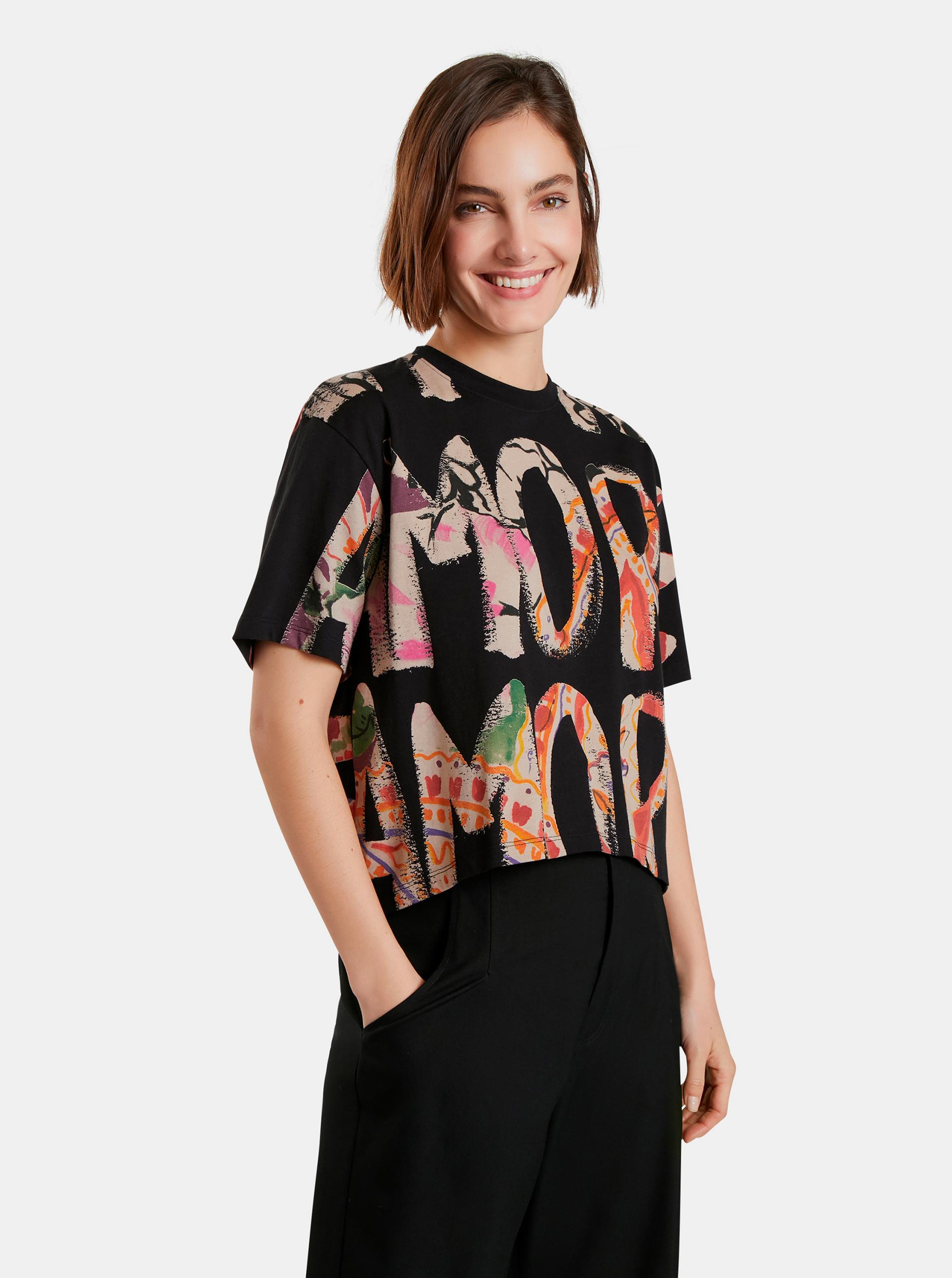 Desigual Koszulka damska czarny Camelia