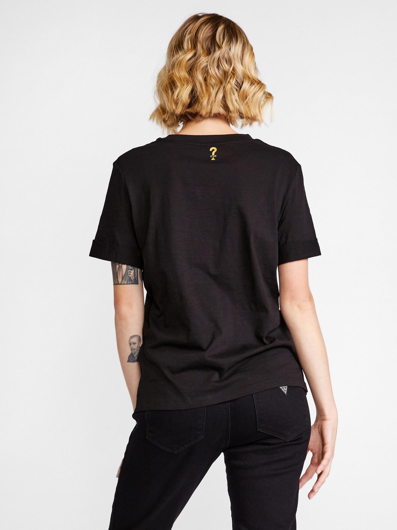 Guess Koszulka damska czarny Triko
