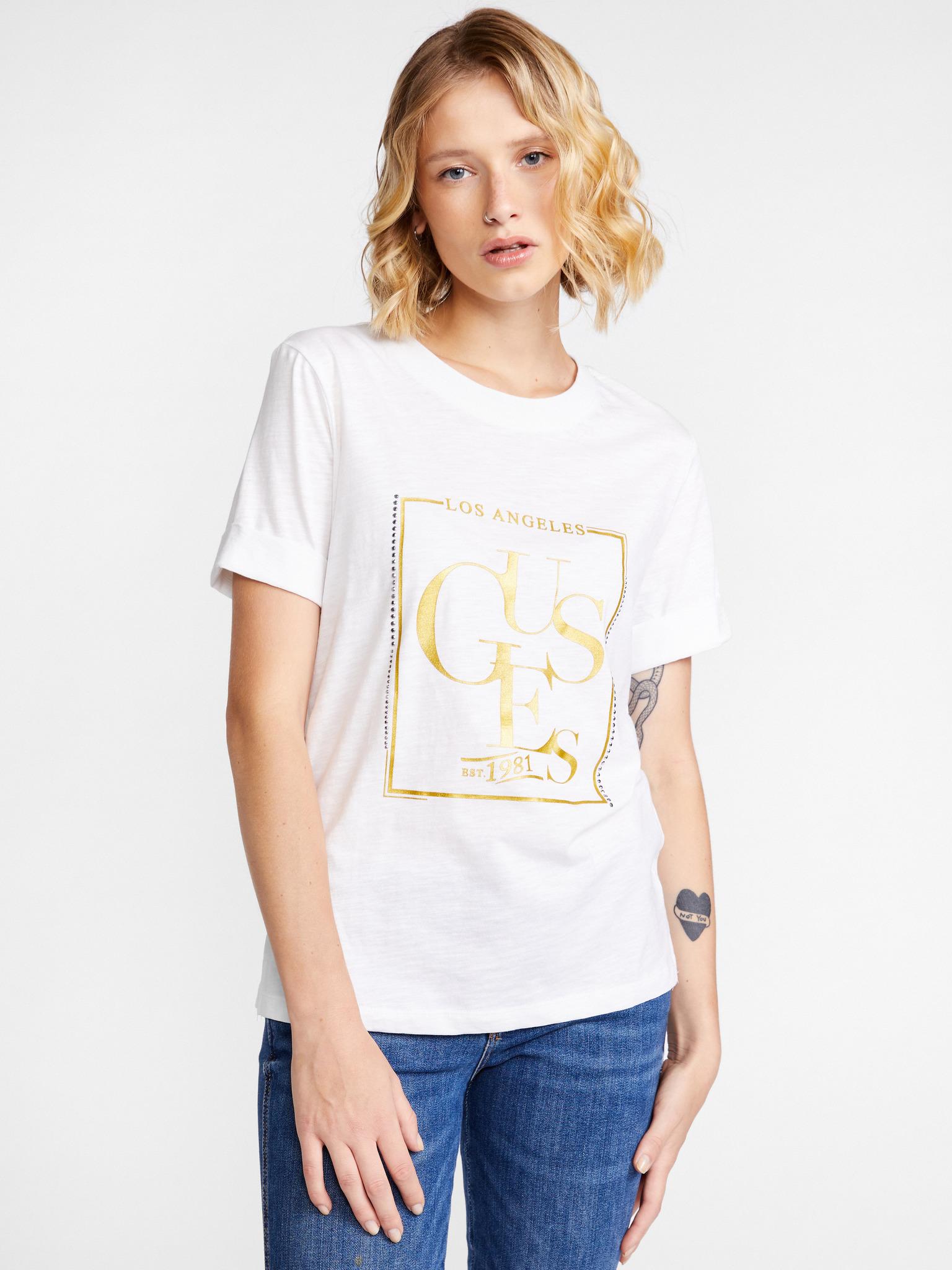 Guess Koszulka damska biały Triko