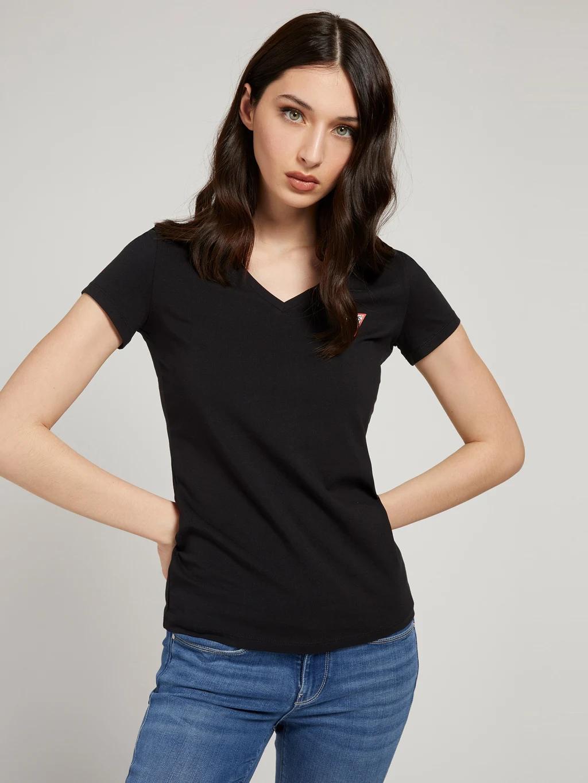 Guess Koszulka damska czarny  Triangle