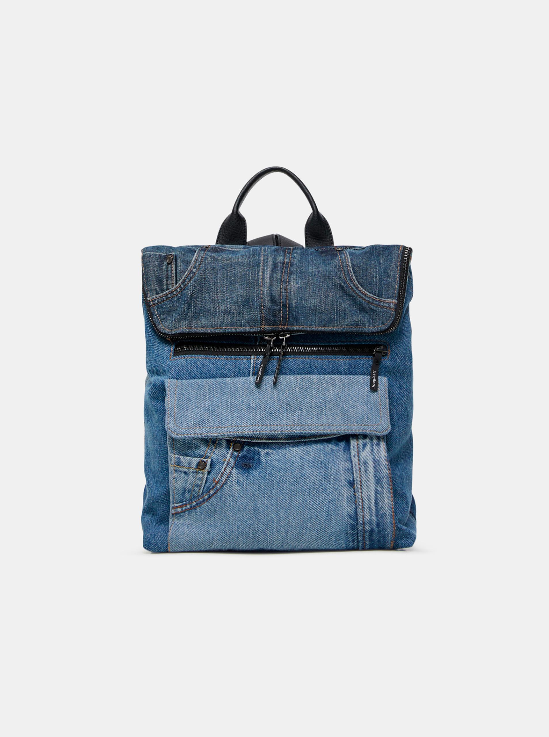 Desigual niebieski plecak Denim Patch Nerano